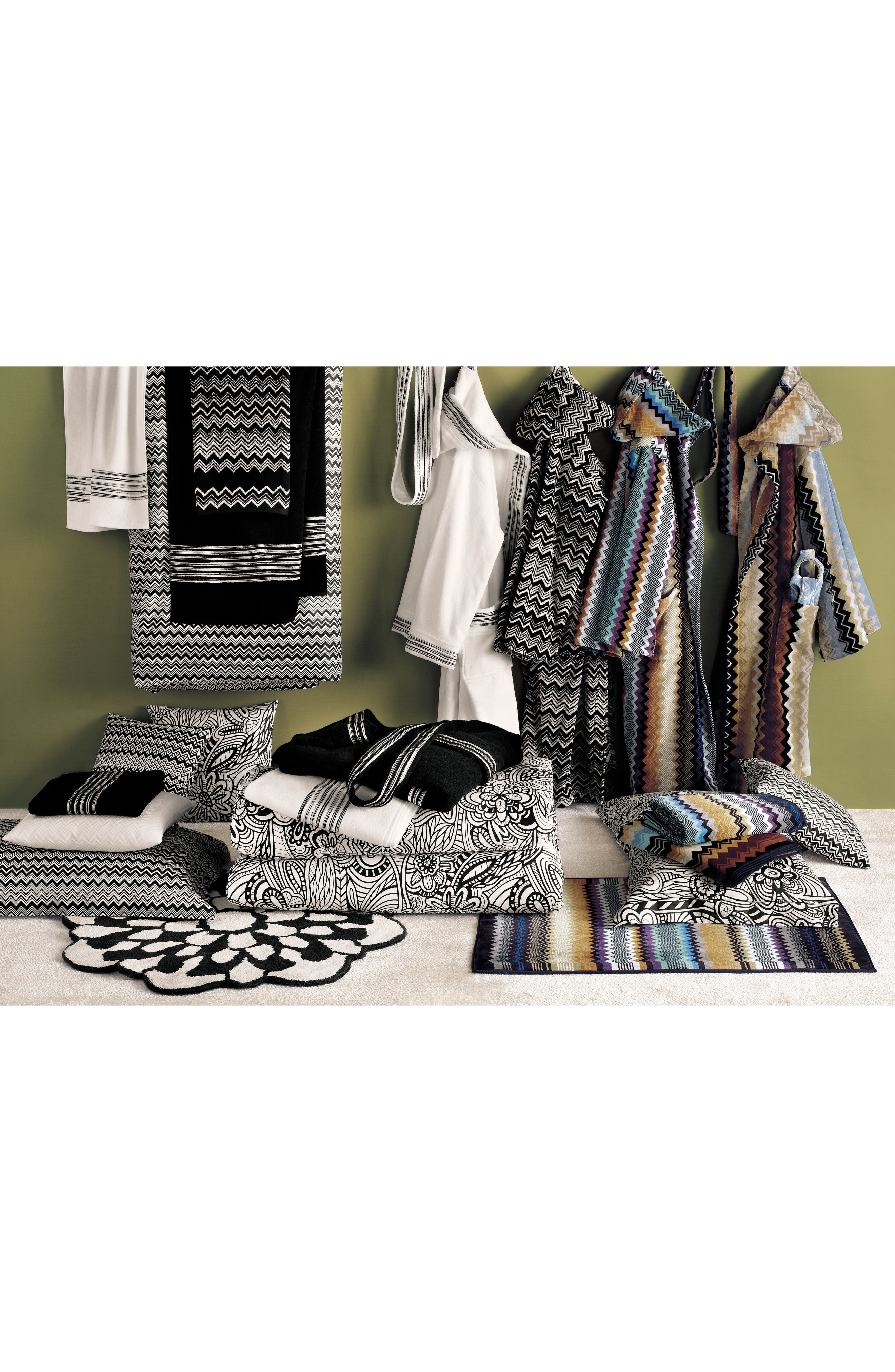 Keith Bath Towel,                             Alternate thumbnail 2, color,                             Black/ White