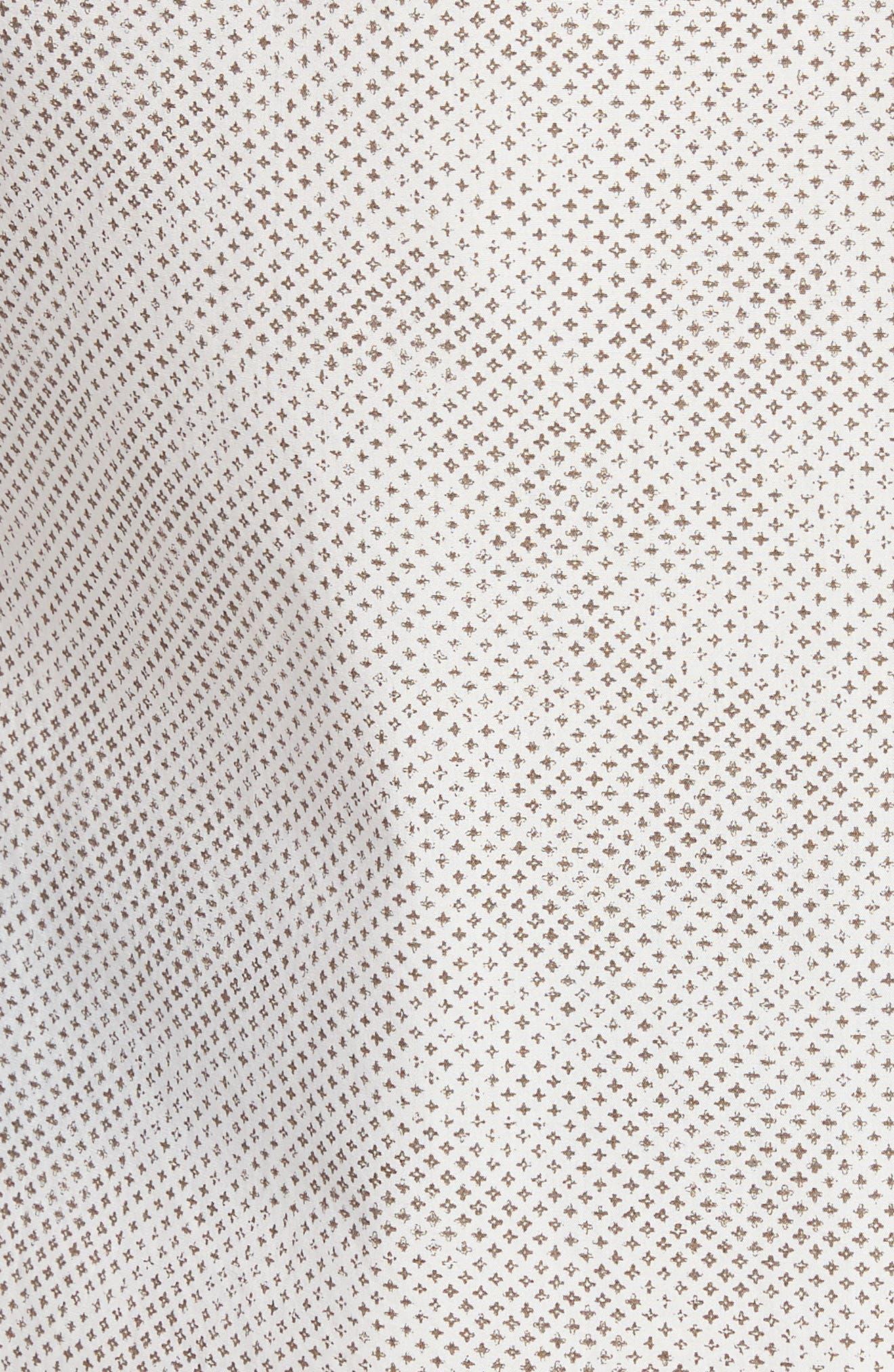 Kirby Sport Shirt,                             Alternate thumbnail 5, color,                             Natural/ Brown