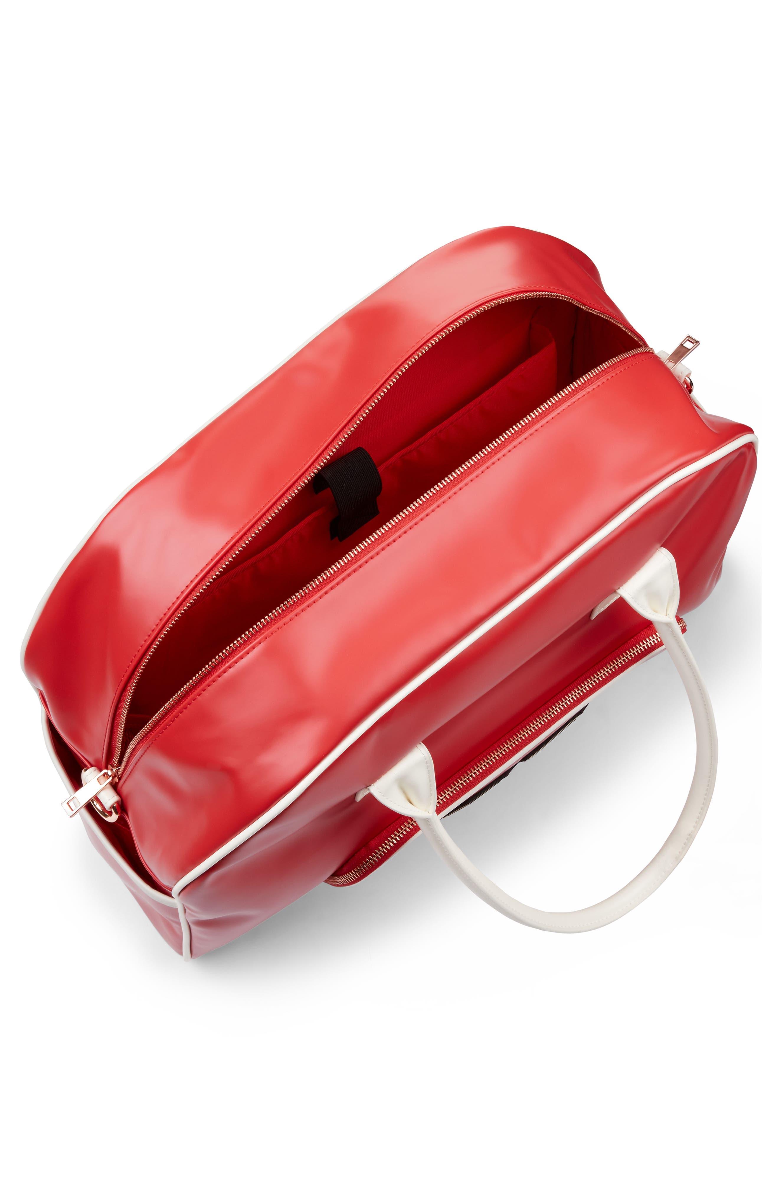 Bowler Bag,                             Alternate thumbnail 4, color,                             Scarlet Red