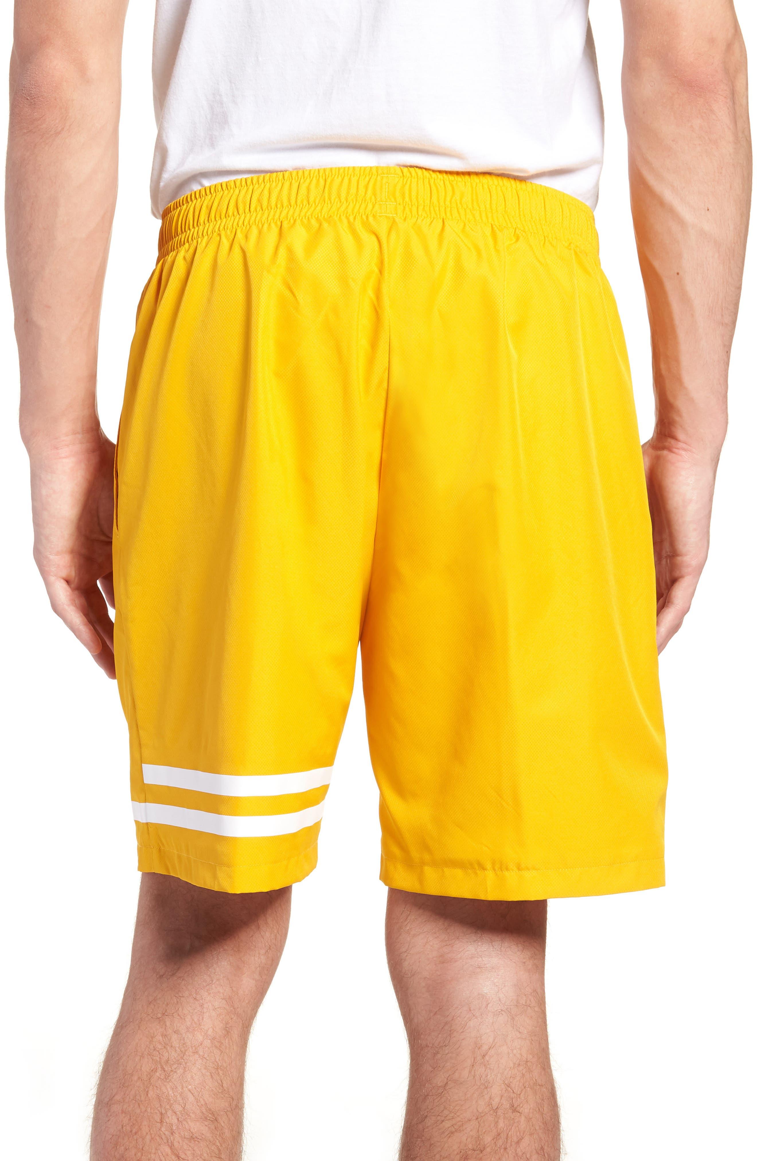 Stripe Shorts,                             Alternate thumbnail 2, color,                             Buttercup/ White
