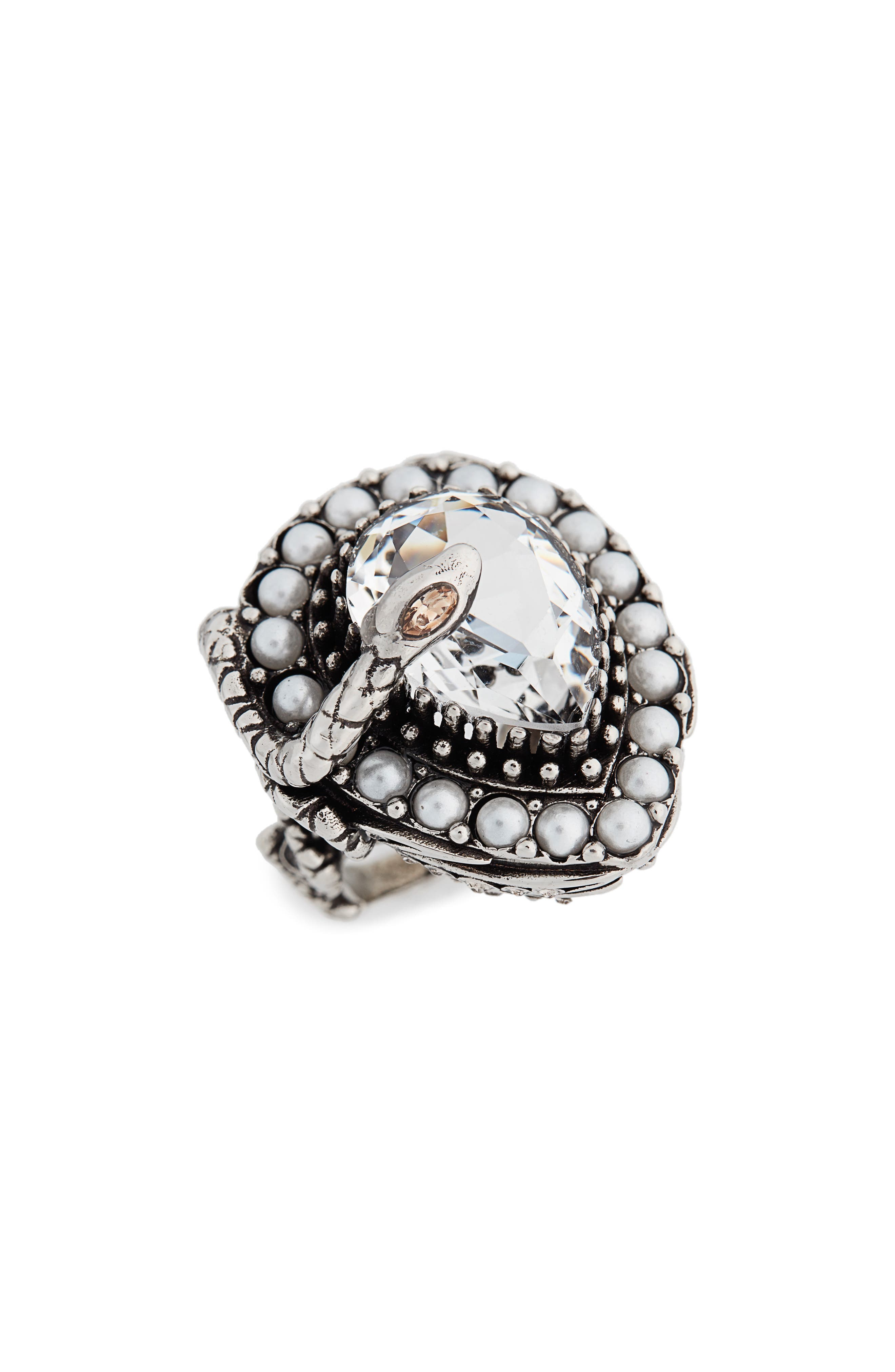 Alexander McQueen Snake Drop Ring