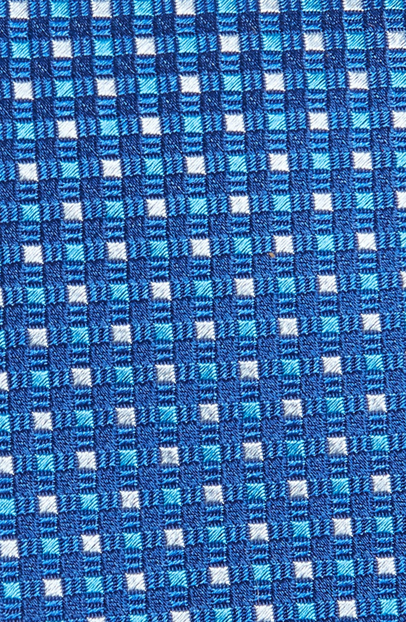 Check Silk Tie,                             Alternate thumbnail 2, color,                             Blue