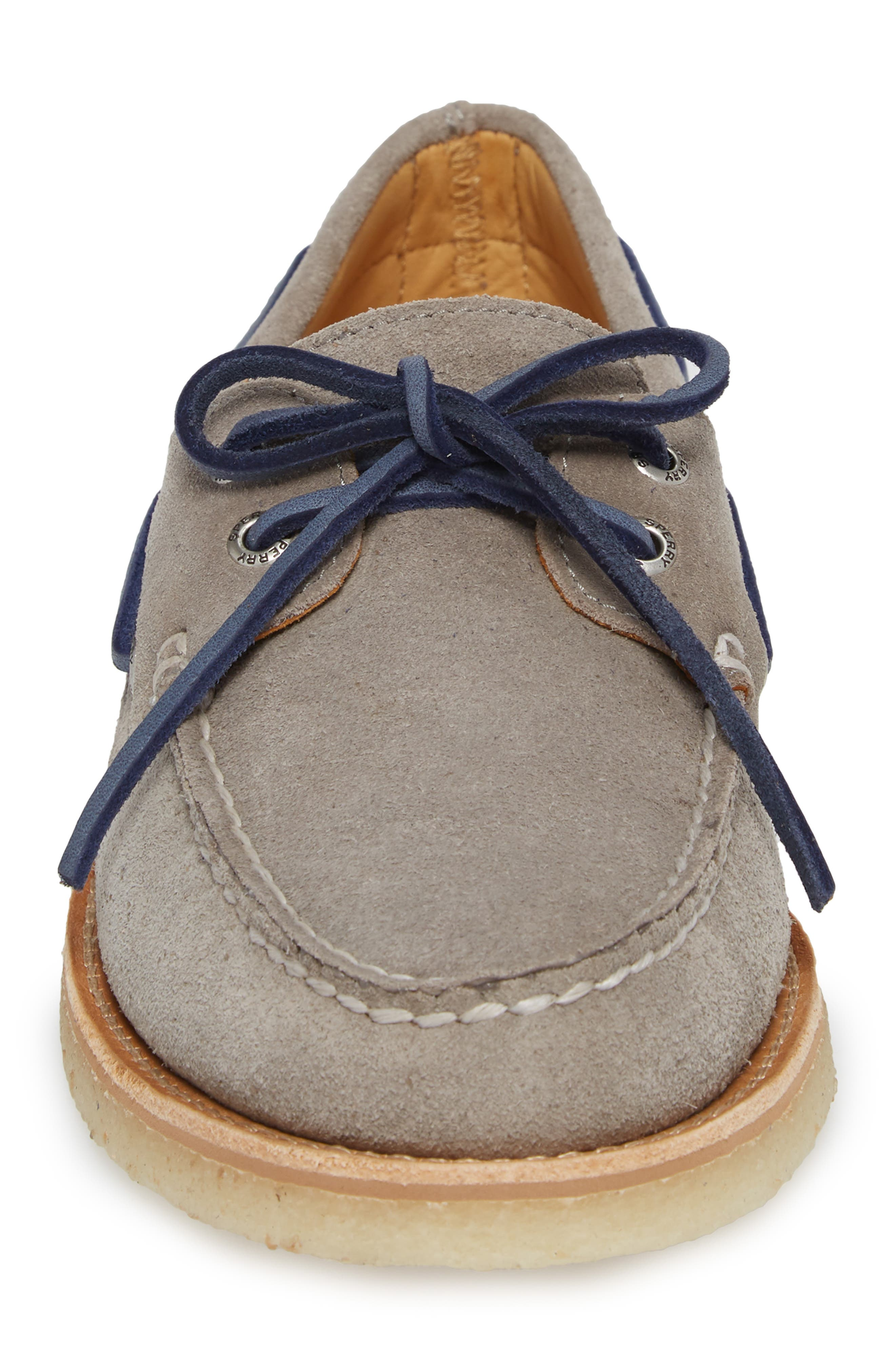 Gold Cup AO 2-Eye Boat Shoe,                             Alternate thumbnail 4, color,                             Grey Leather
