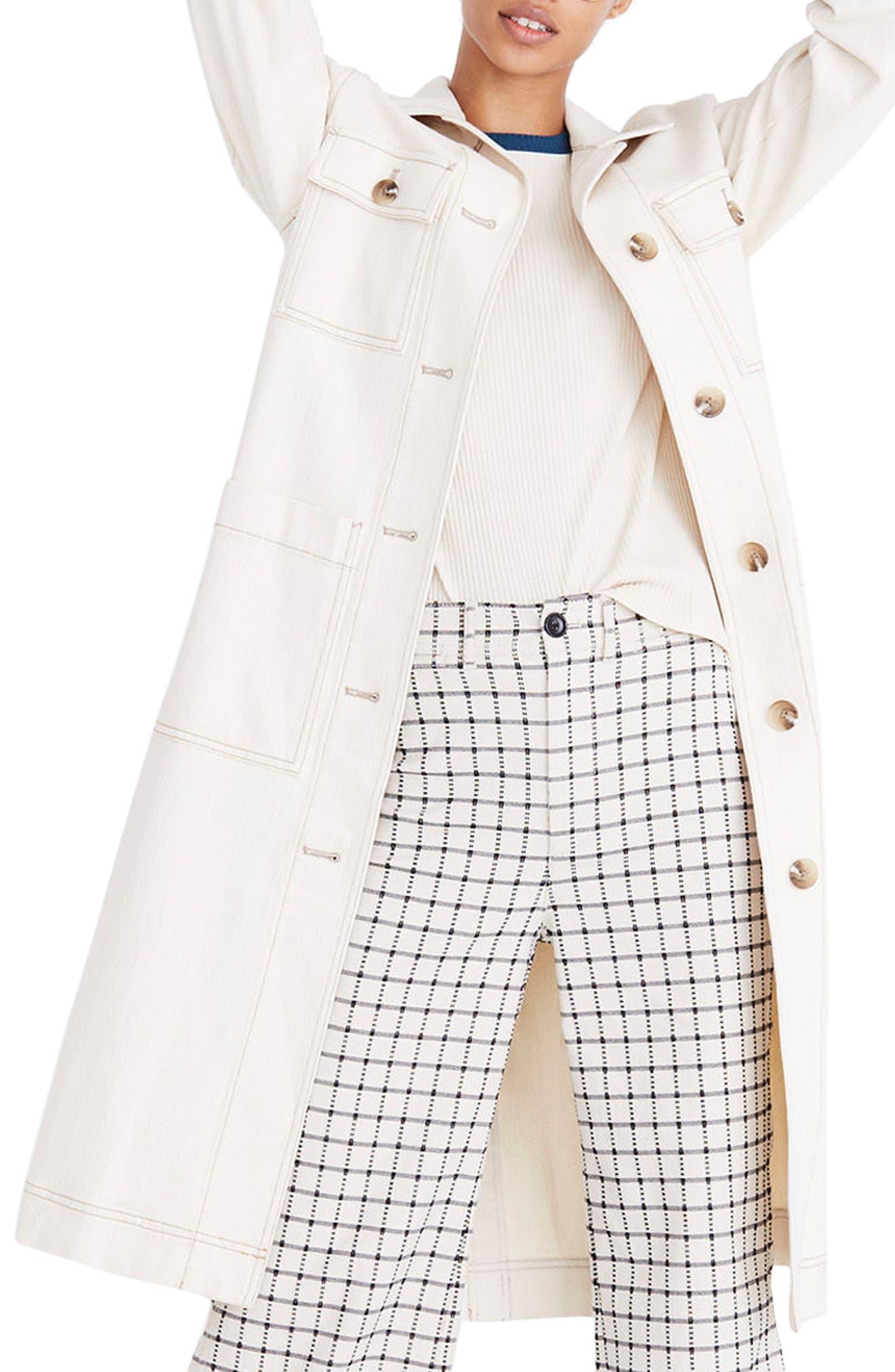 Cline Duster Coat,                         Main,                         color, Canvas