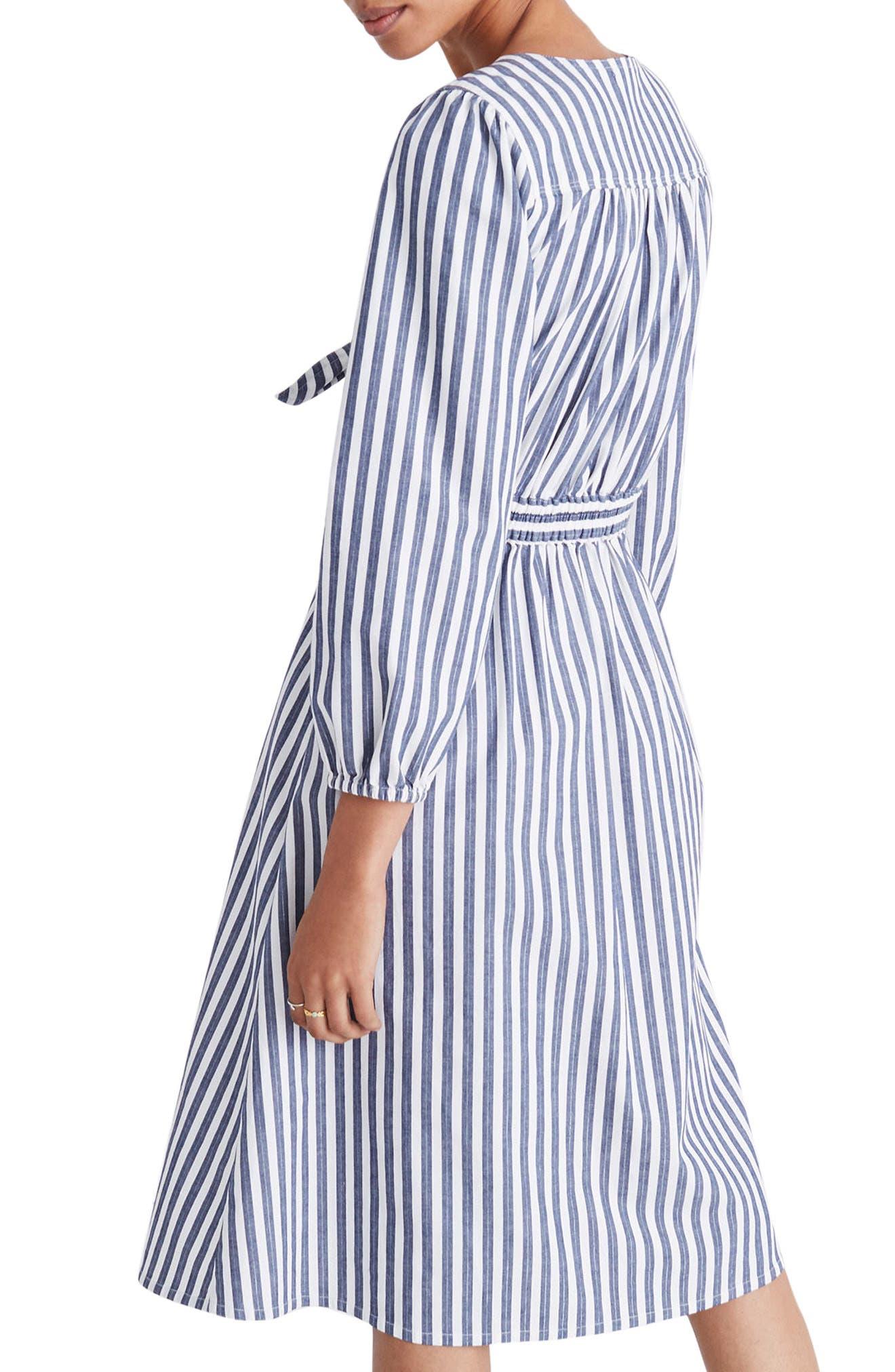 Shimmer Stripe Cutout Midi Dress,                             Alternate thumbnail 2, color,                             Amelia Stripe