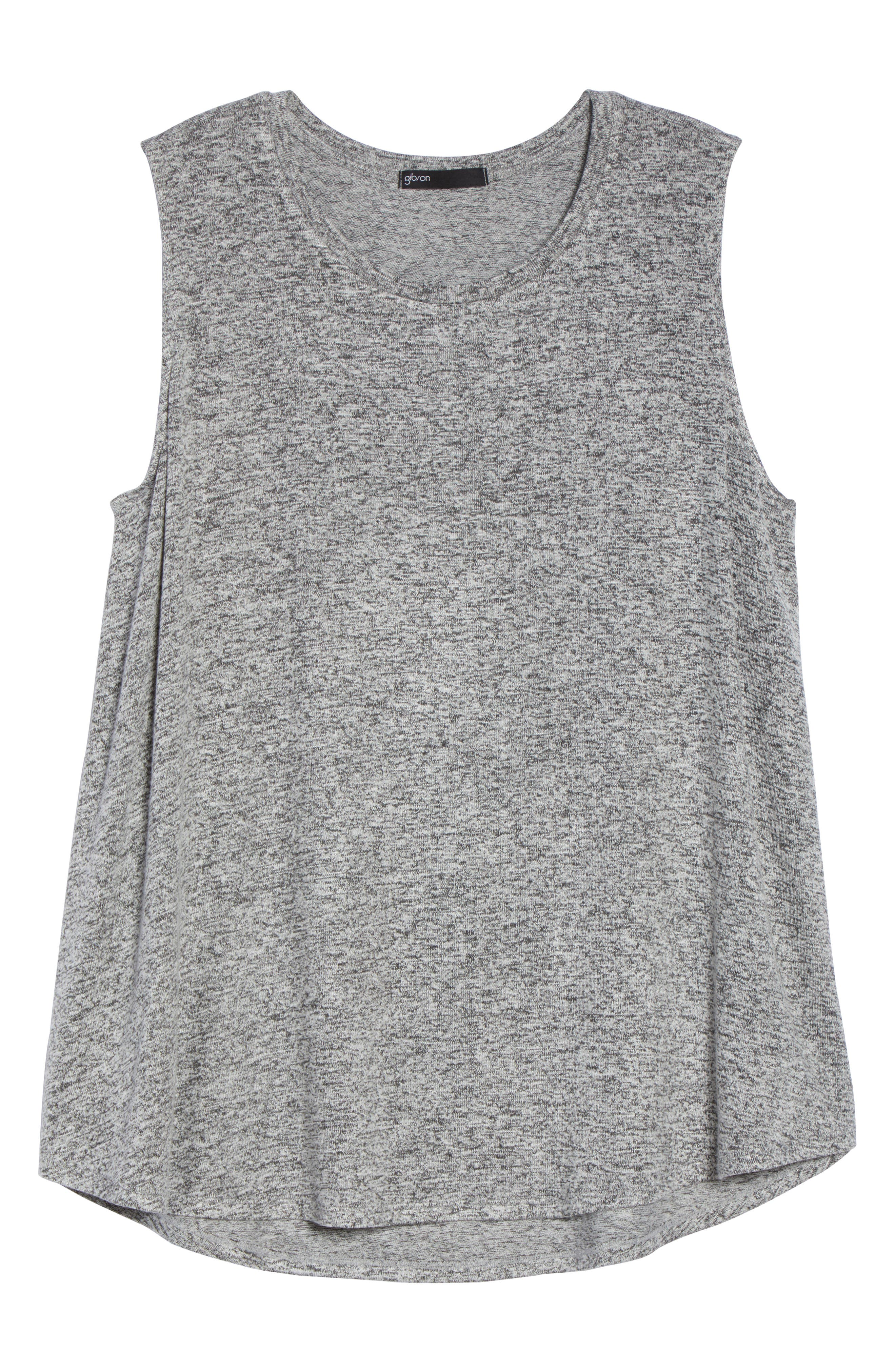 x Living in Yellow Millie Muscle Tank,                             Alternate thumbnail 8, color,                             Heather Grey Marled
