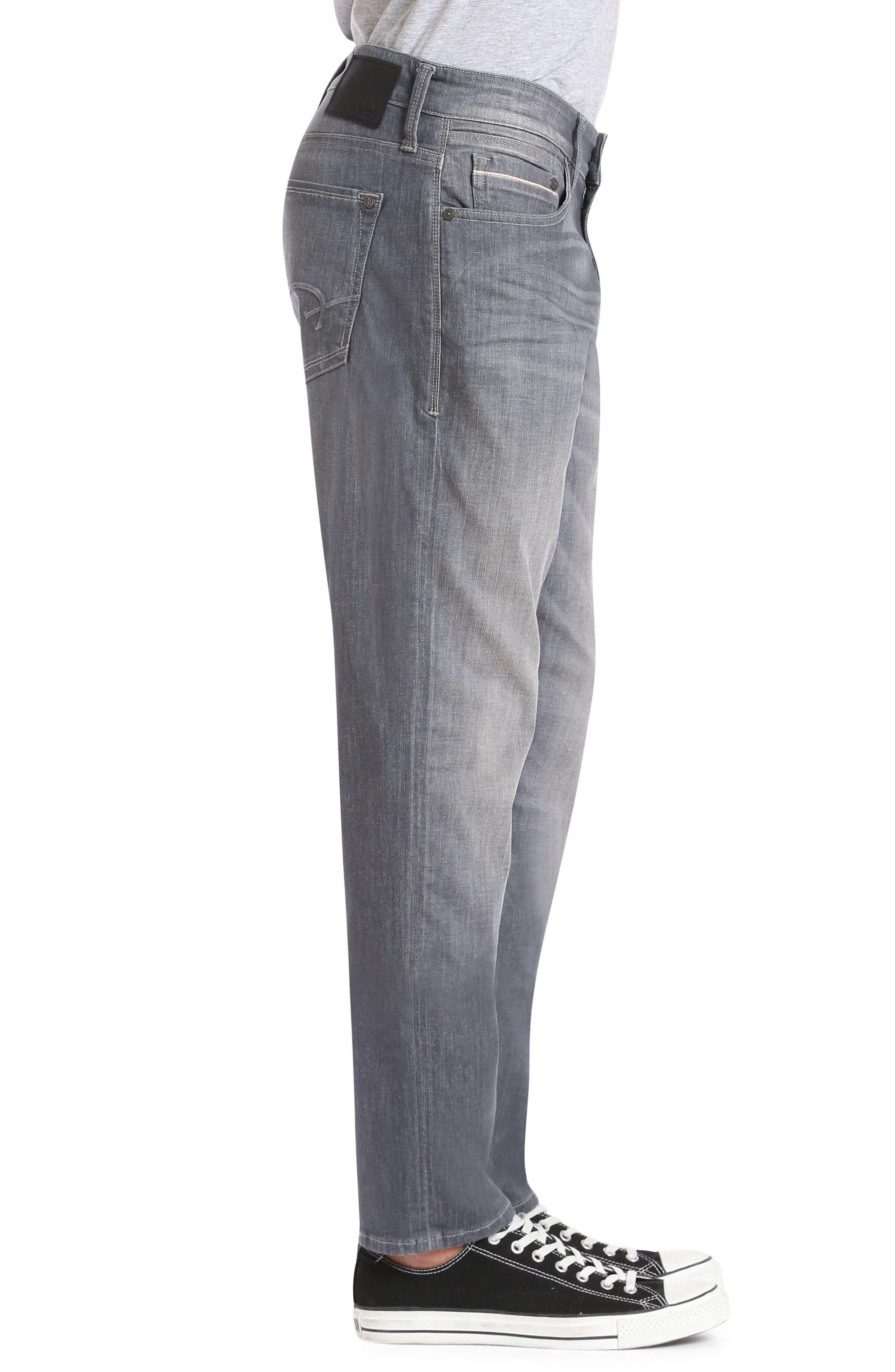 Alternate Image 3  - Mavi Jeans Marcus Slim Straight Leg Jeans (Light Grey White Edge)