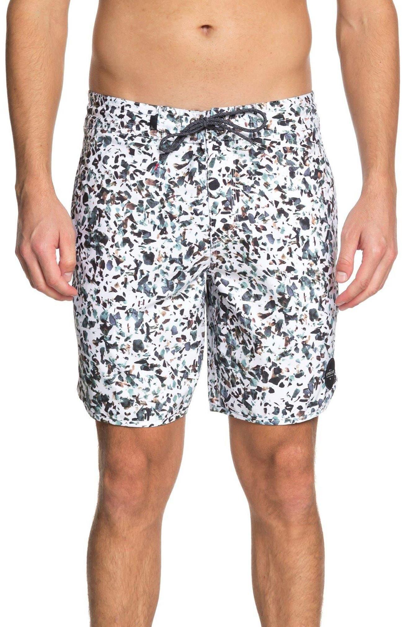 Variable Swim Shorts,                             Main thumbnail 1, color,                             White