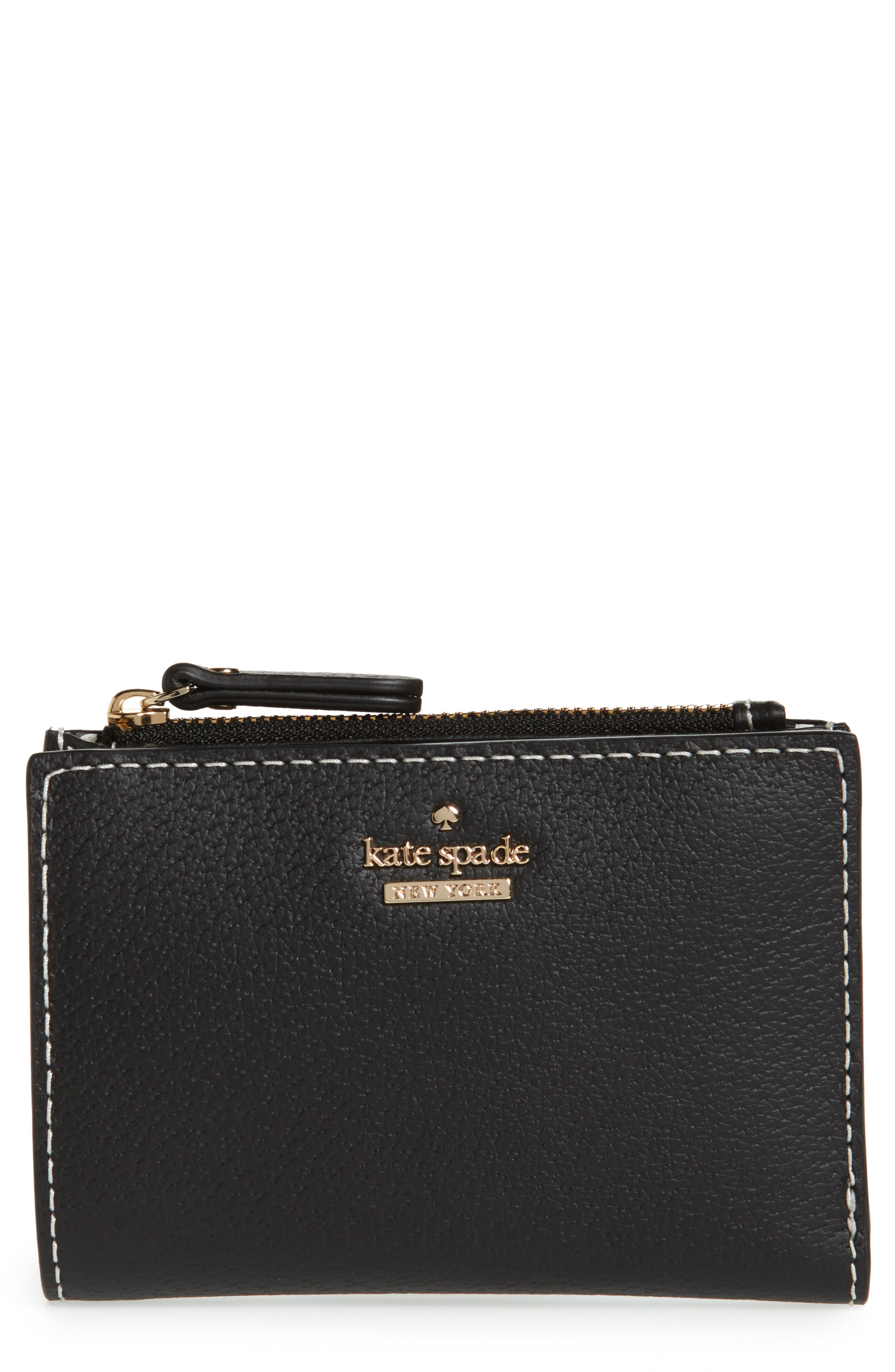 thompson street – abri leather wallet,                             Main thumbnail 1, color,                             Black