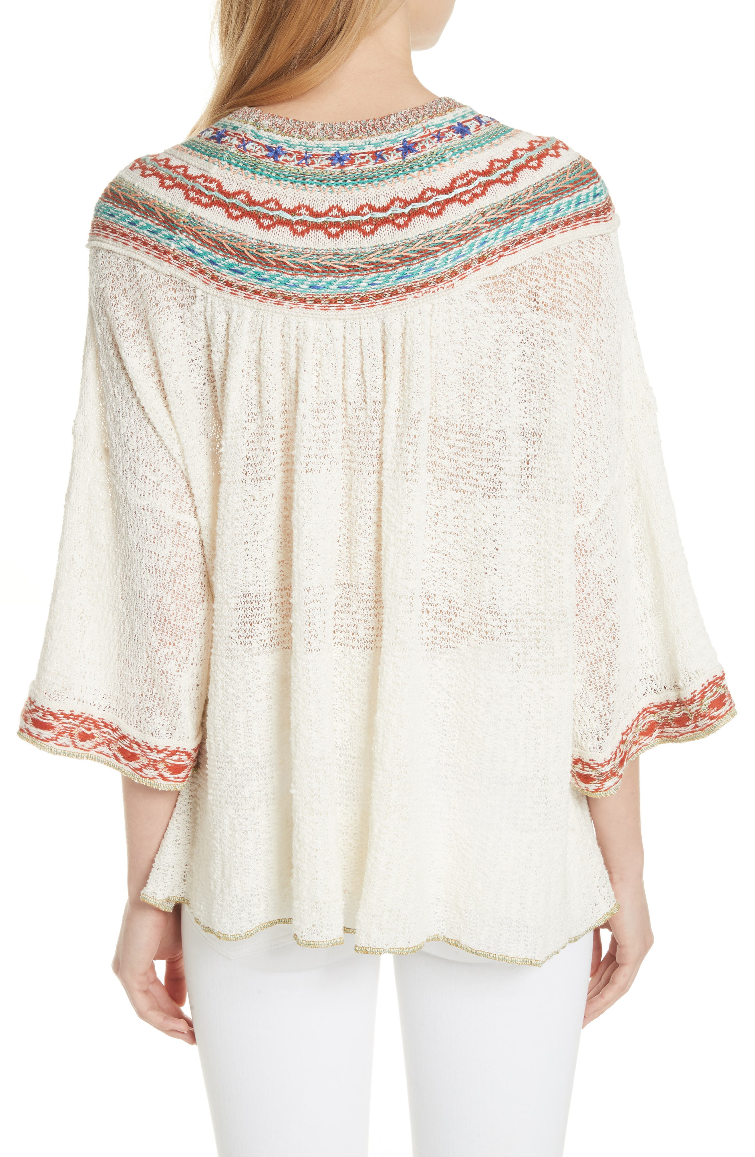 Vacation Sweater,                             Alternate thumbnail 2, color,                             Ivory