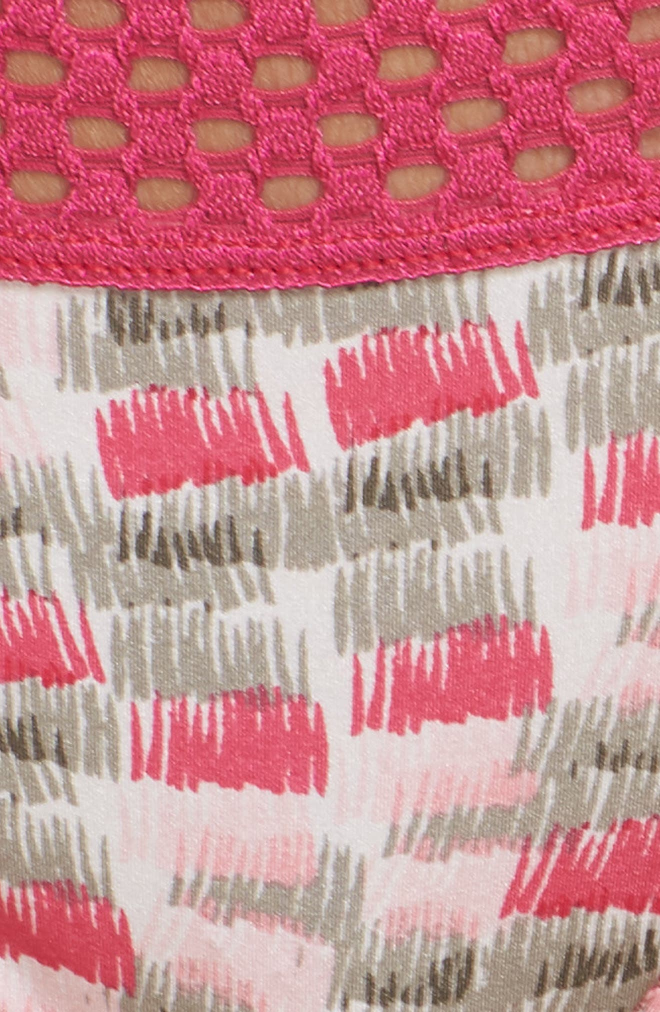 Thong,                             Alternate thumbnail 6, color,                             Pink Peacock Print