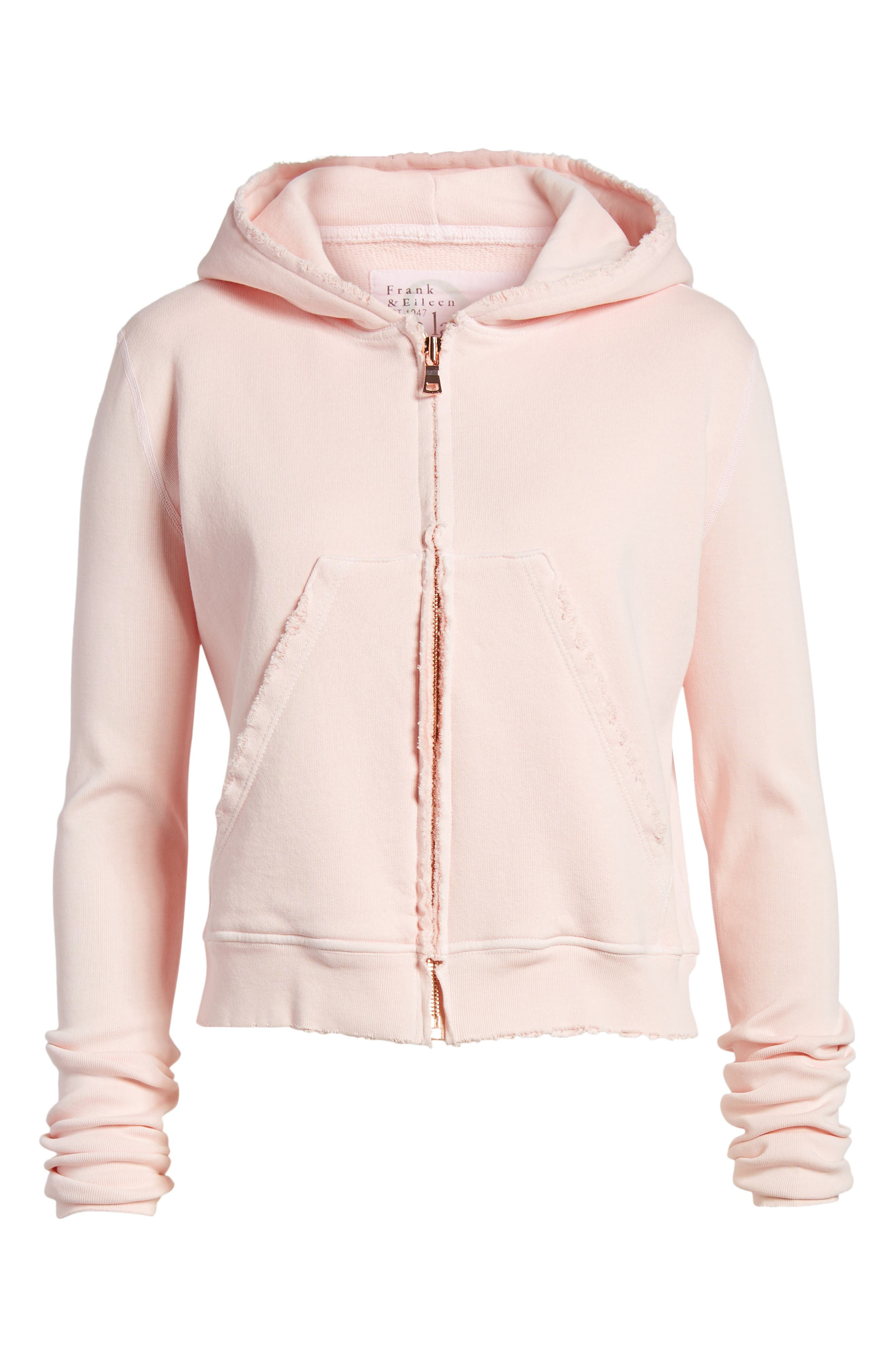 Distressed Zip Hoodie,                             Alternate thumbnail 7, color,                             Love Letter