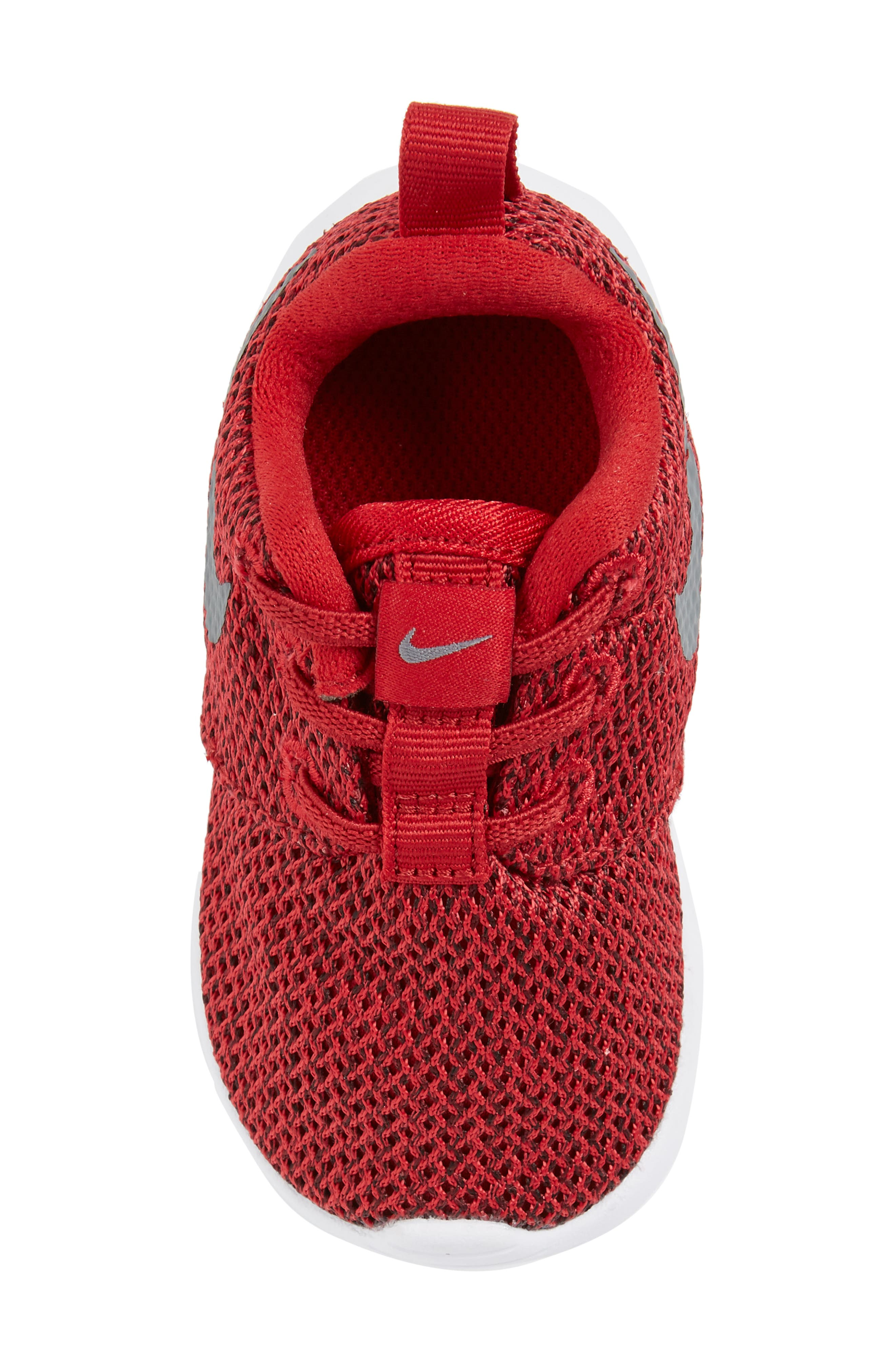 'Roshe Run' Sneaker,                             Alternate thumbnail 5, color,                             Gym Red/ Cool Grey/ Anthracite