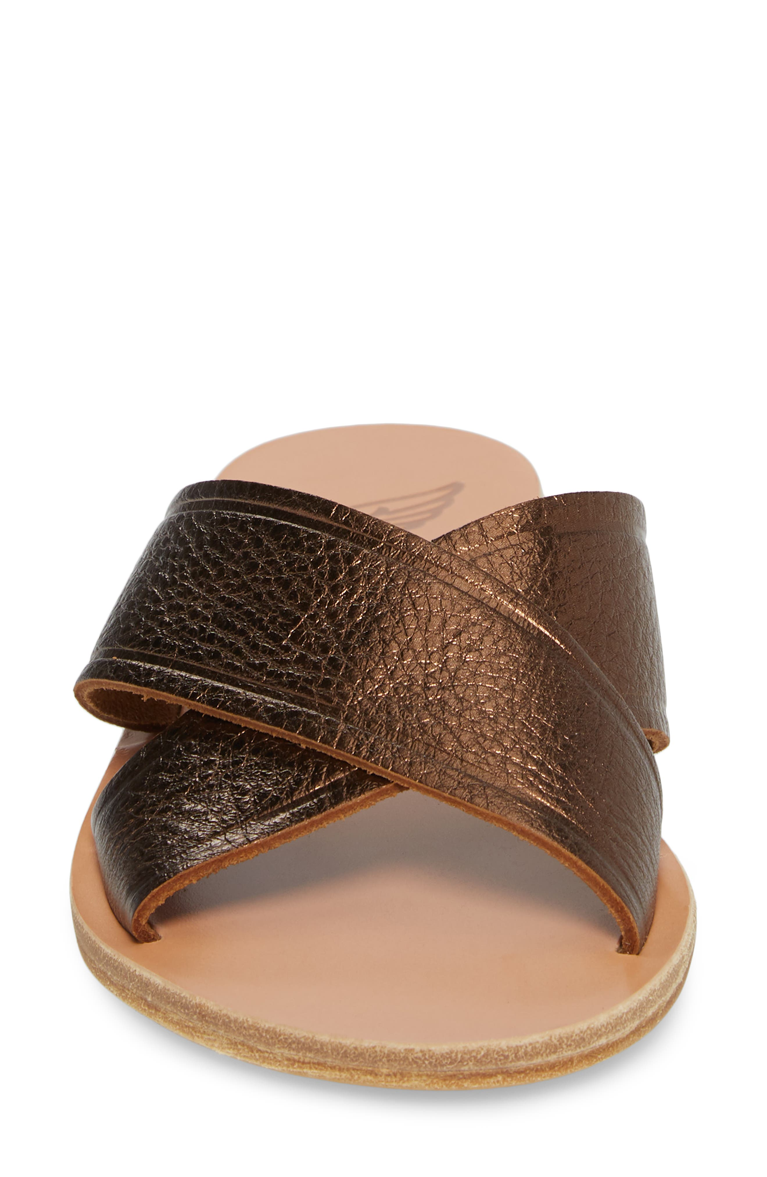 Thais Slide Sandal,                             Alternate thumbnail 4, color,                             Bronze/ Coco