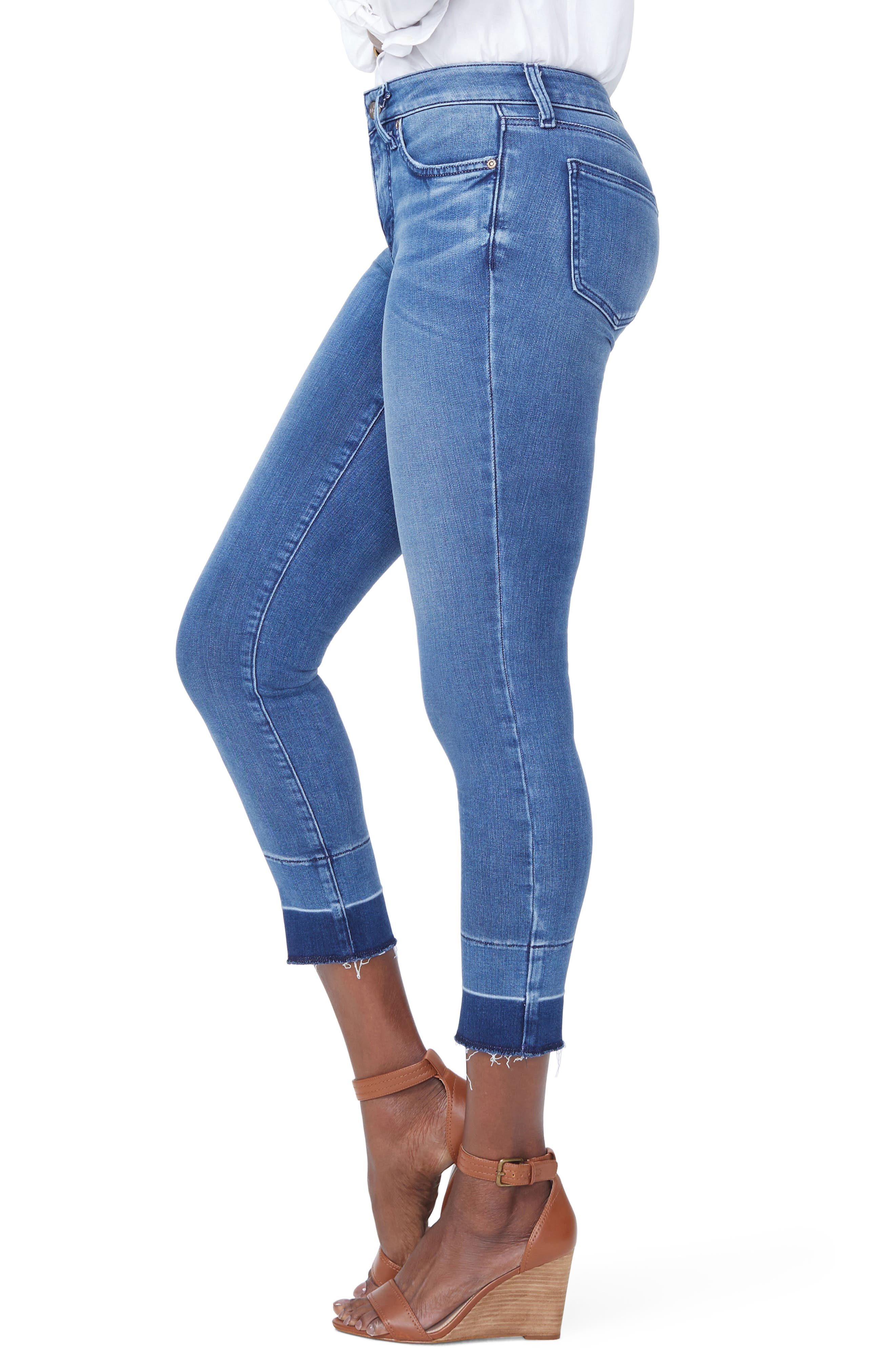 Alina Release Hem Ankle Skinny Jeans,                             Alternate thumbnail 4, color,                             Wishful