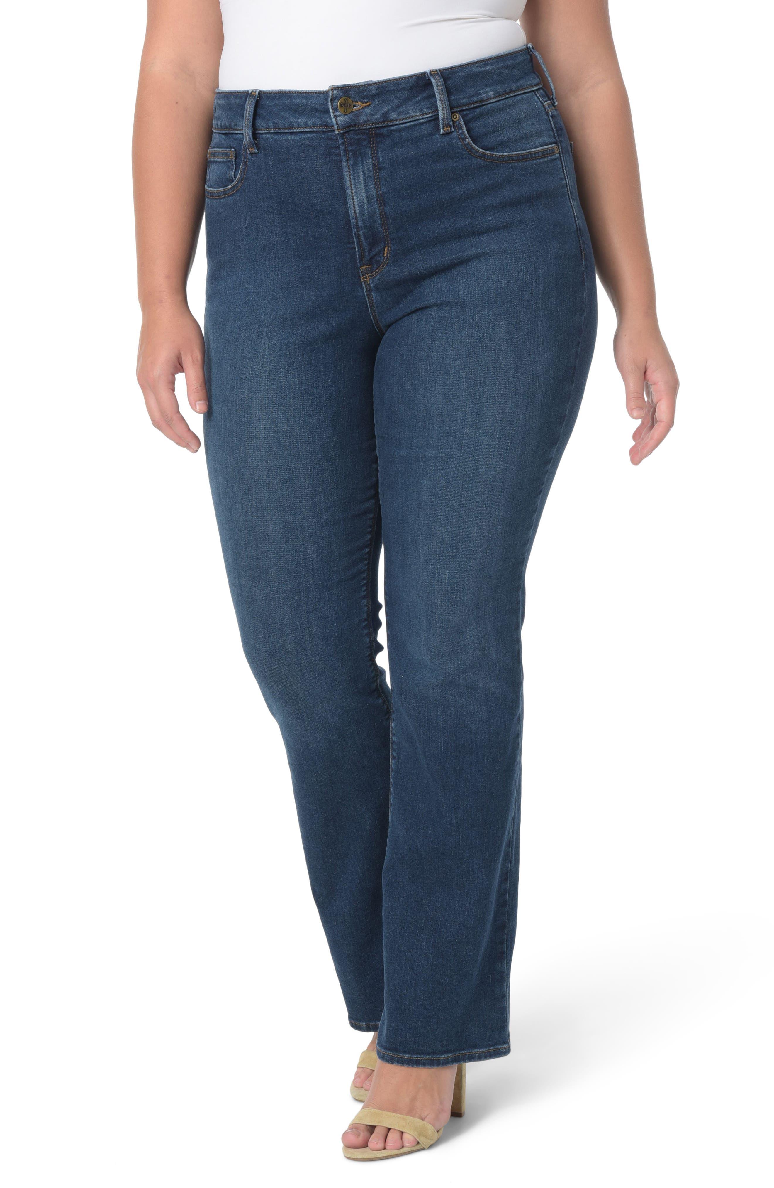 NYDJ Barbara Stretch Bootcut Jeans (Plus Size)