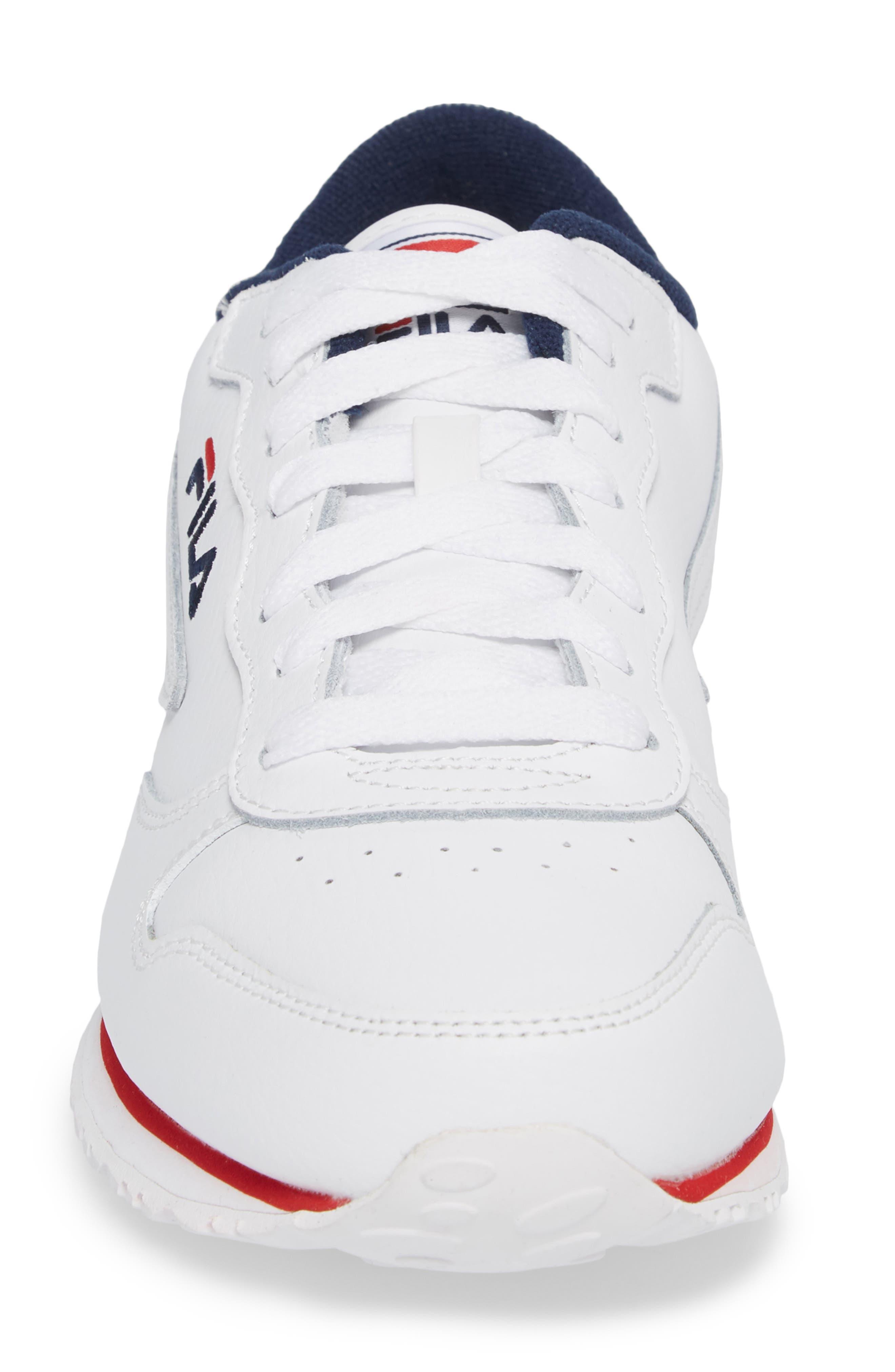 Euro Jogger Sneaker,                             Alternate thumbnail 4, color,                             White/ Navy/ Red