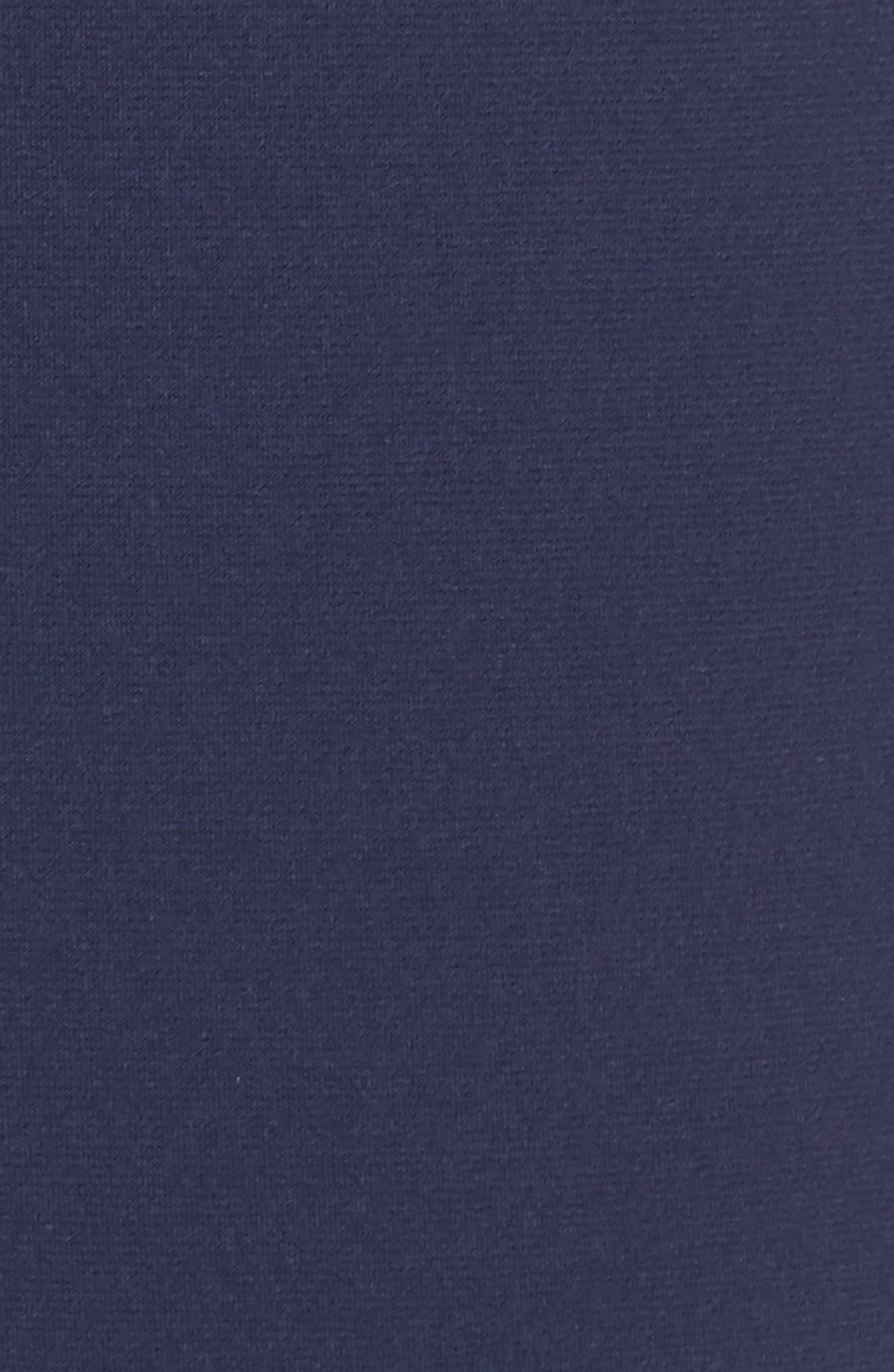 Solid Tank Ruffle Crop Jumpsuit,                             Alternate thumbnail 5, color,                             True Navy