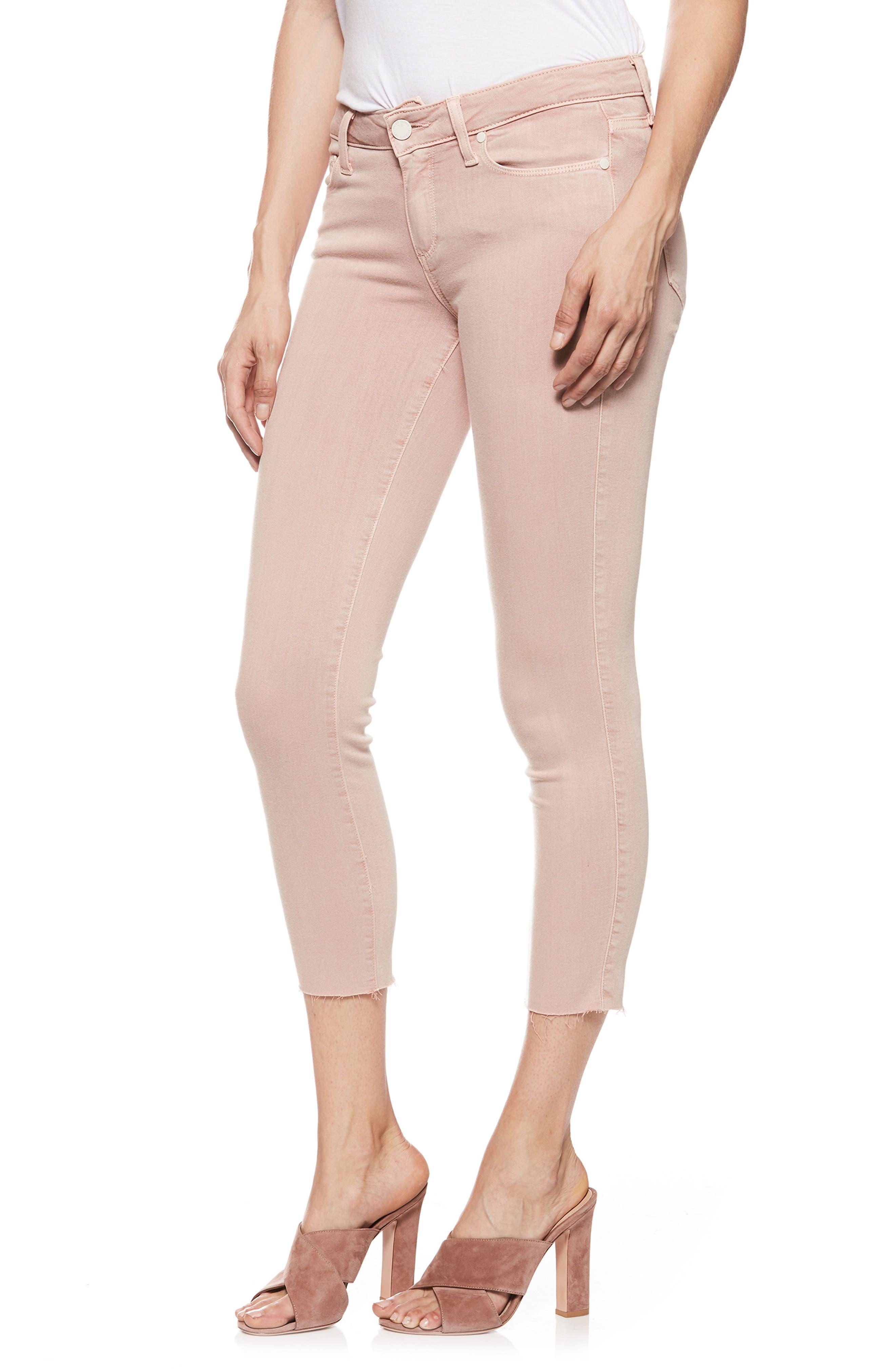PAIGE Transcend - Verdugo Raw Hem Crop Skinny Jeans (Vintage California Rose)