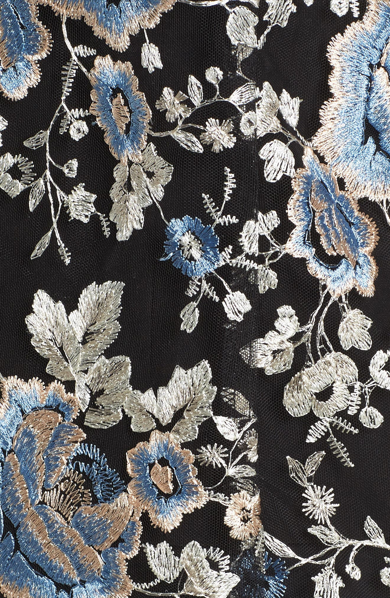 Floral Embroidered Twinset,                             Alternate thumbnail 3, color,                             Blue Multi