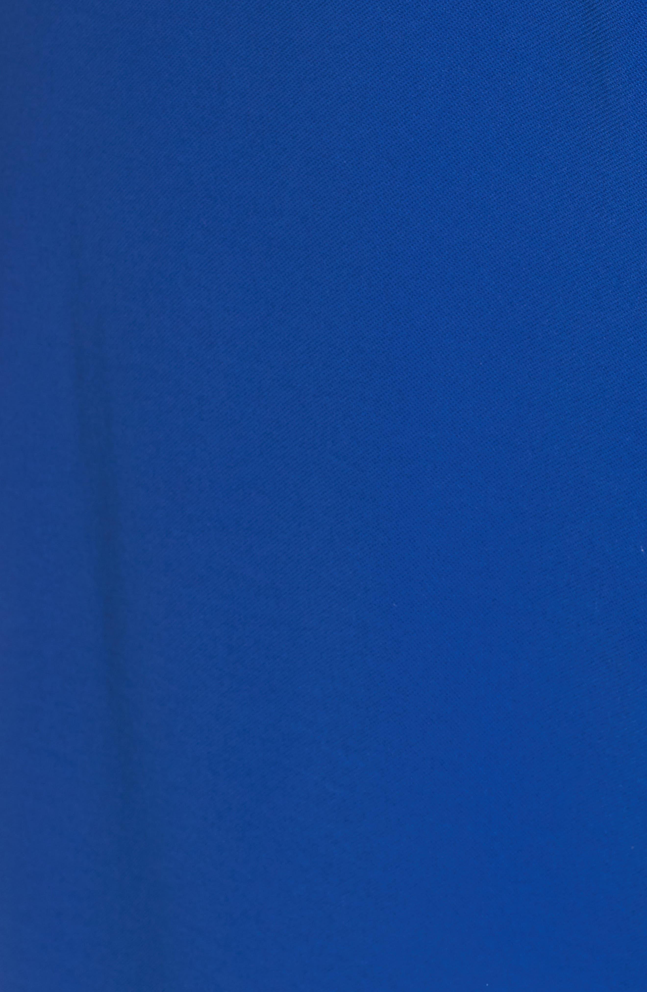 Gauzy Crepe Shirtdress,                             Alternate thumbnail 6, color,                             Cobalt