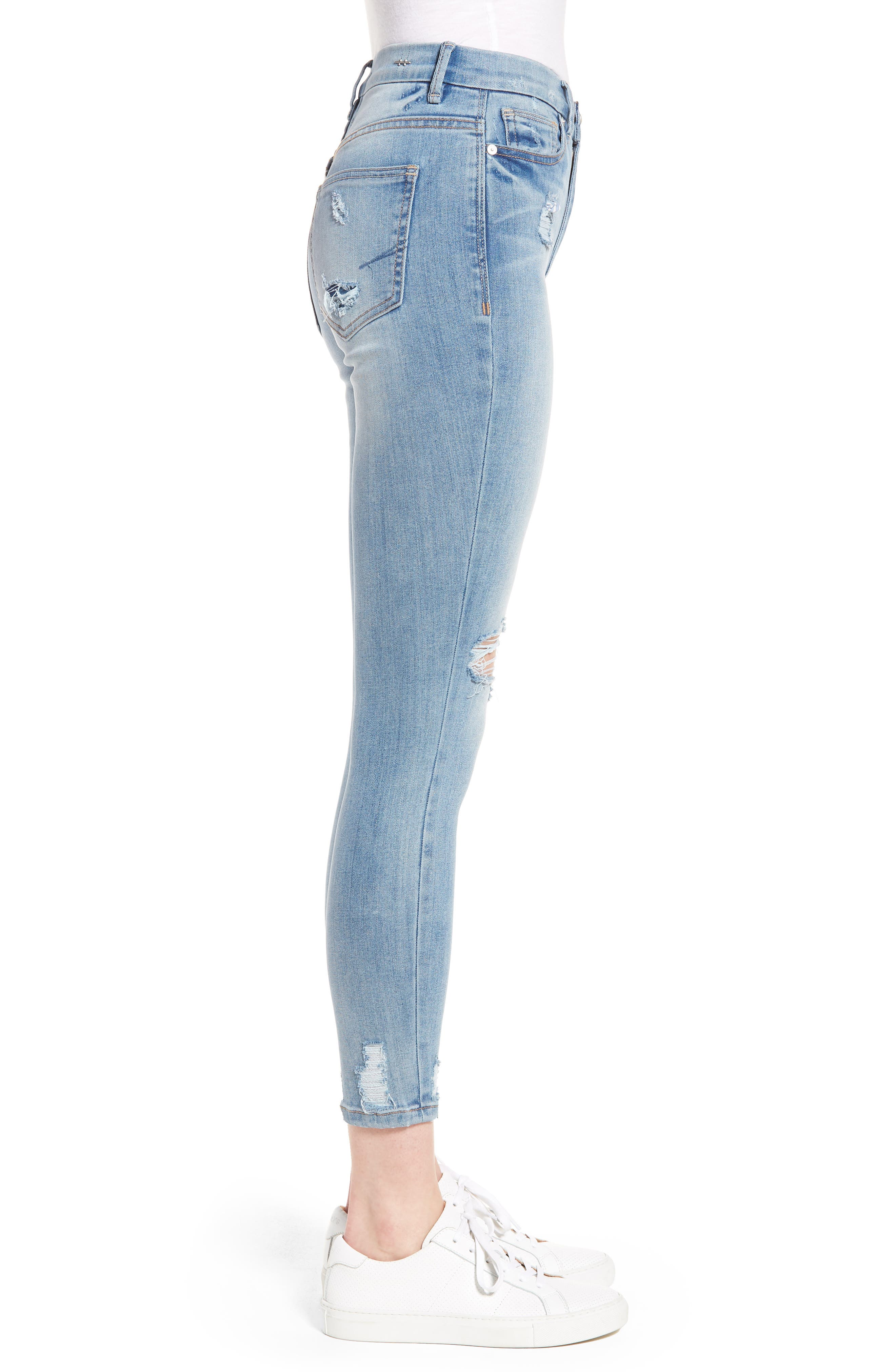 Cressa High Rise Ankle Skinny Jeans,                             Alternate thumbnail 3, color,                             Varnish