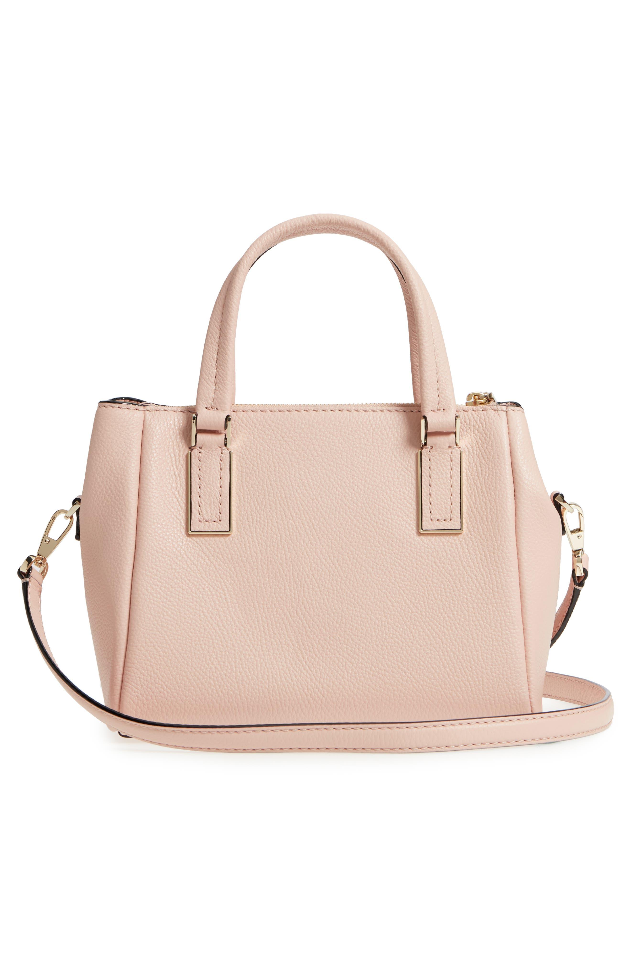 kingston drive - small alena leather satchel,                             Alternate thumbnail 3, color,                             Warm Vellum