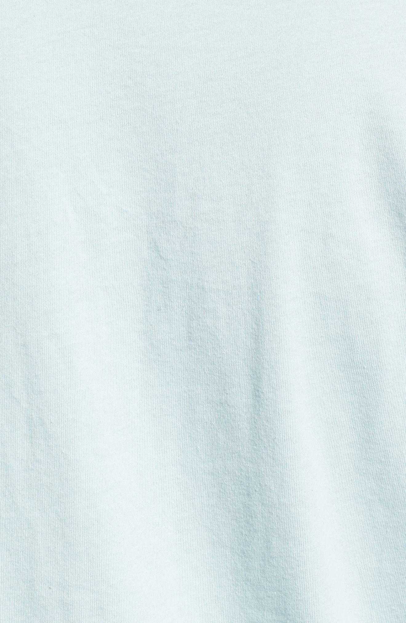 Team Stripe Pocket T-Shirt,                             Alternate thumbnail 5, color,                             Coastal Blue