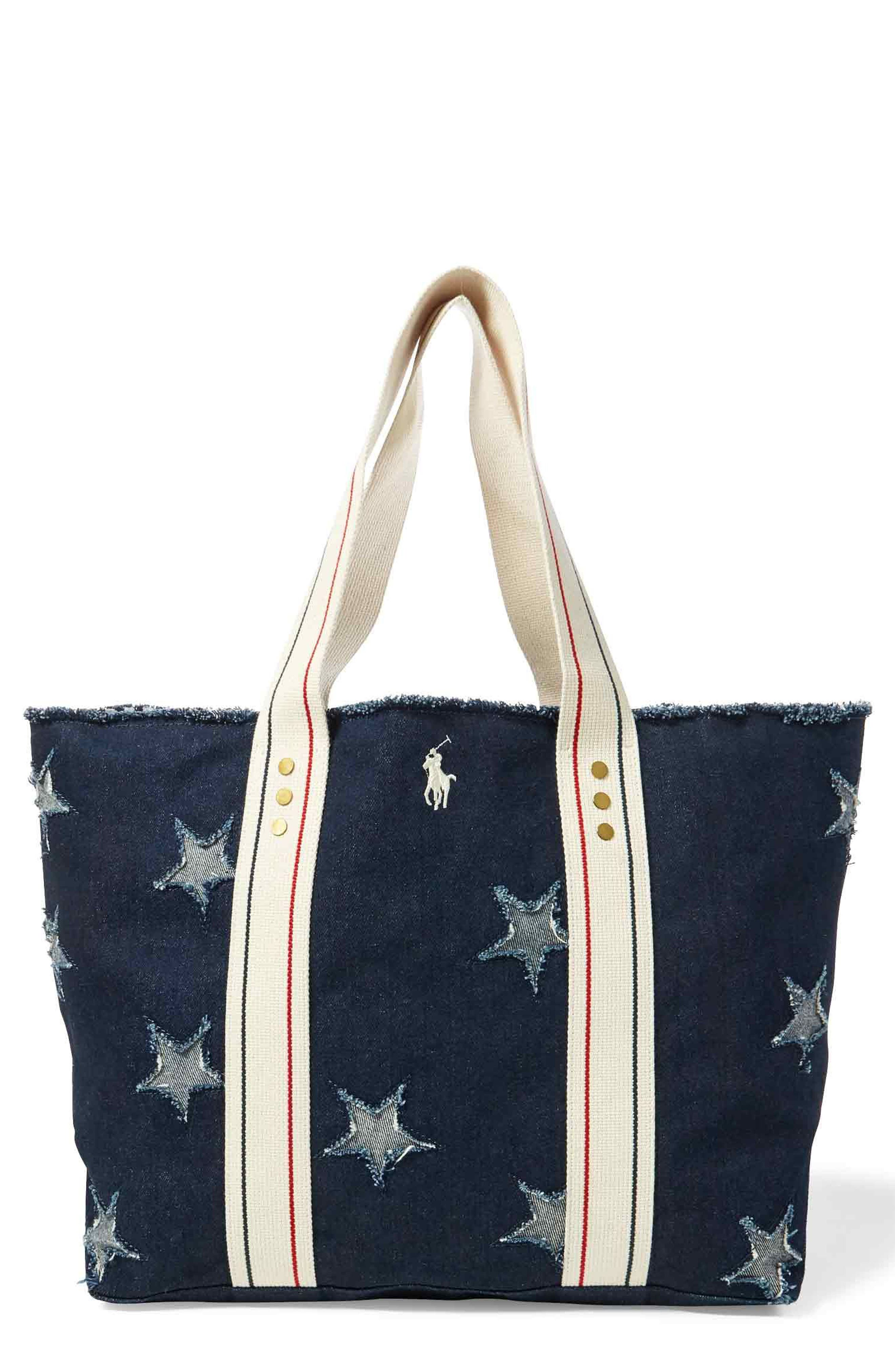 Flag Canvas Tote,                         Main,                         color, Star Tote