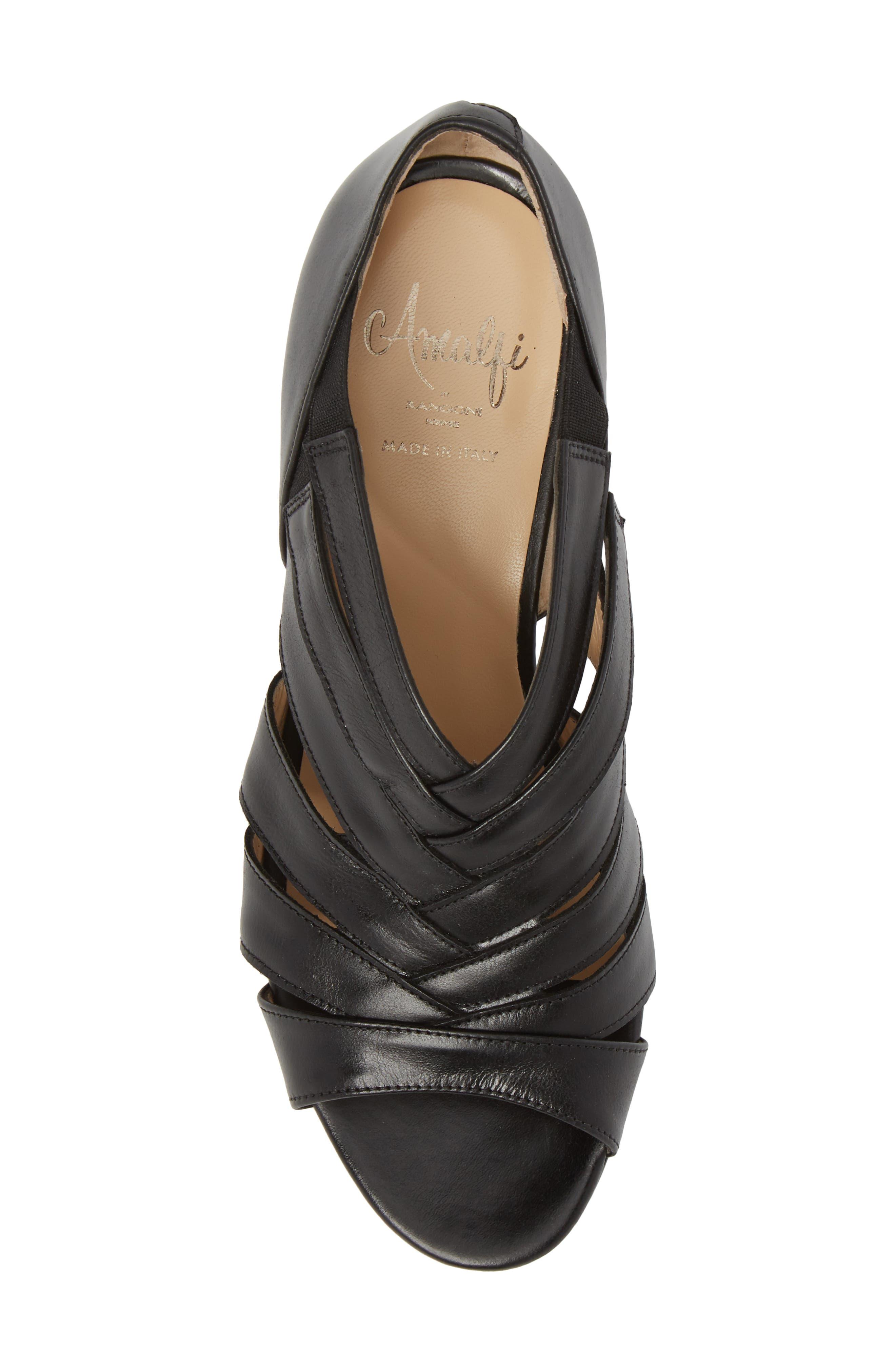 Demetra Sandal,                             Alternate thumbnail 5, color,                             Black Leather
