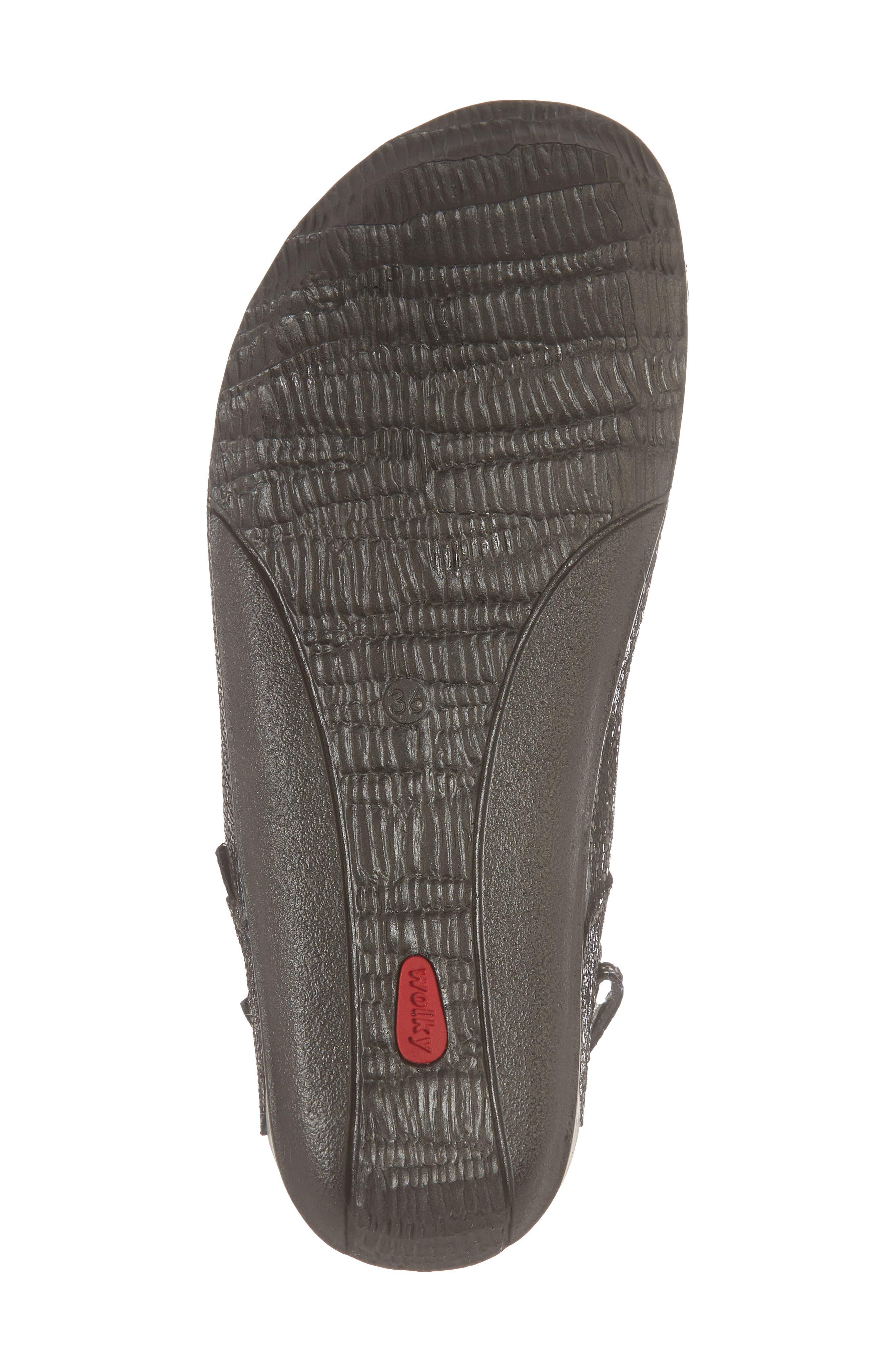 Cortez Sandal,                             Alternate thumbnail 6, color,                             Black Leather
