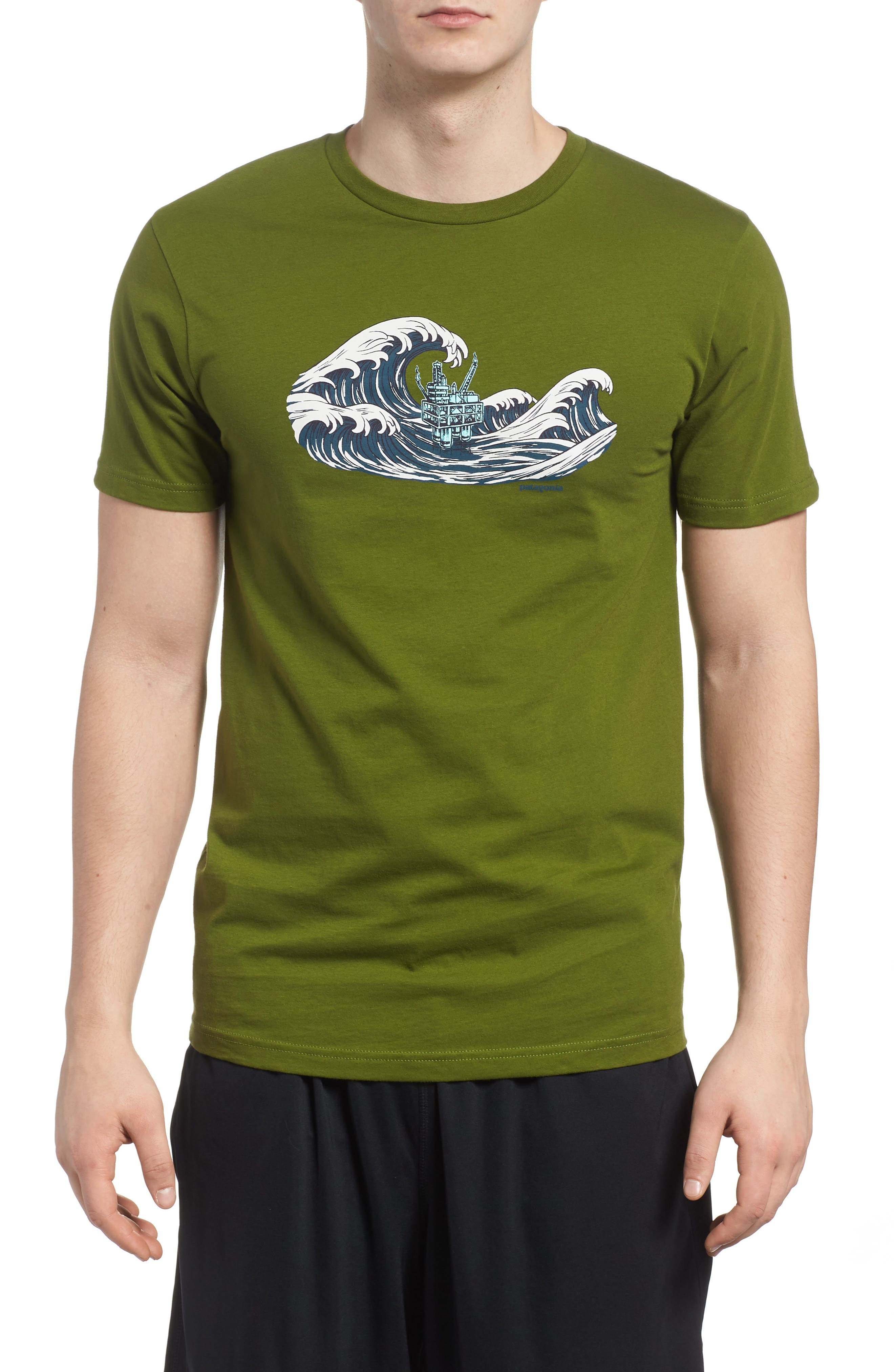 Oily Olas Slim Fit Organic Cotton T-Shirt,                             Main thumbnail 1, color,                             Sprouted Green