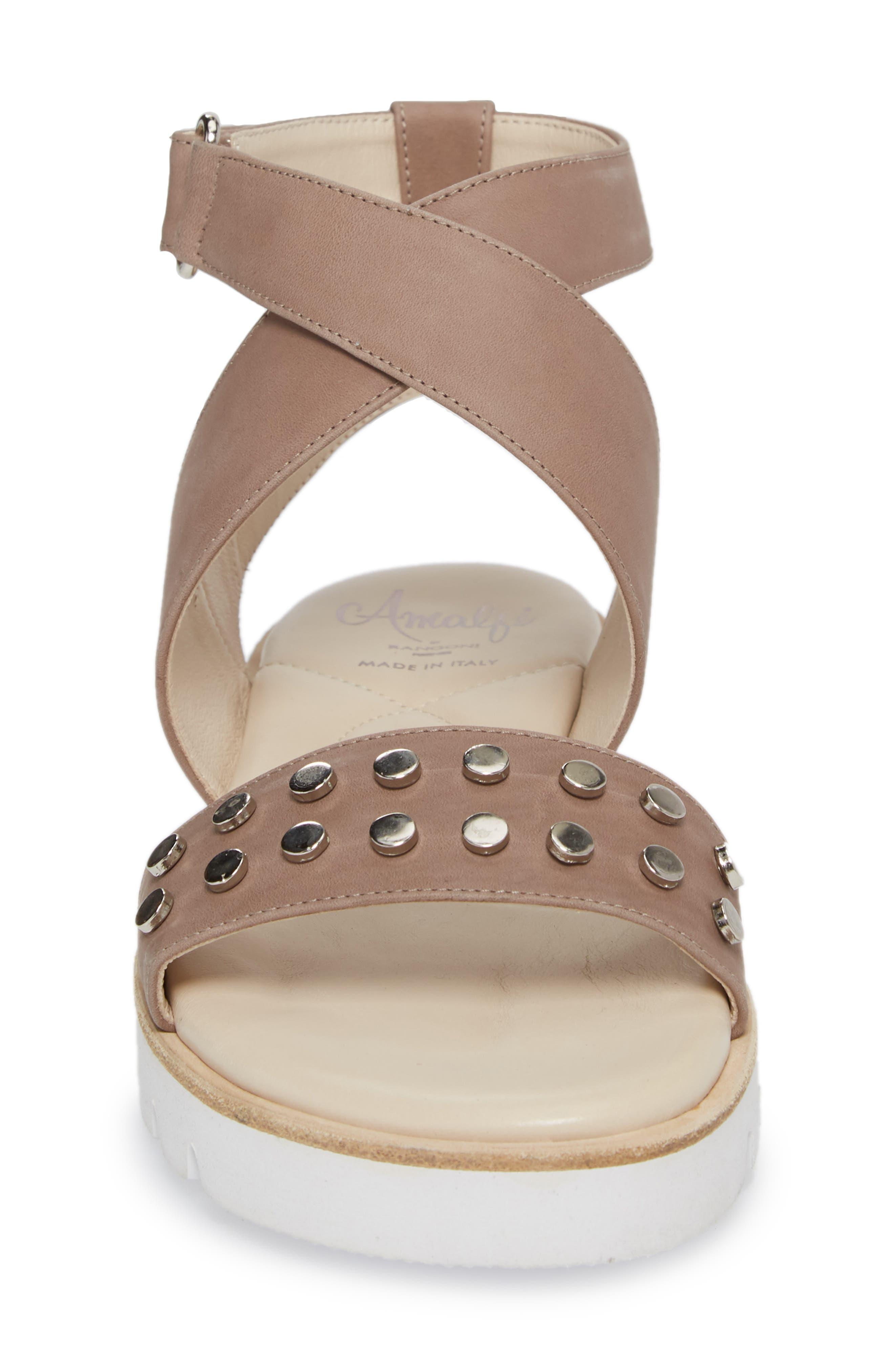 Barlume Sandal,                             Alternate thumbnail 4, color,                             Taupe Leather