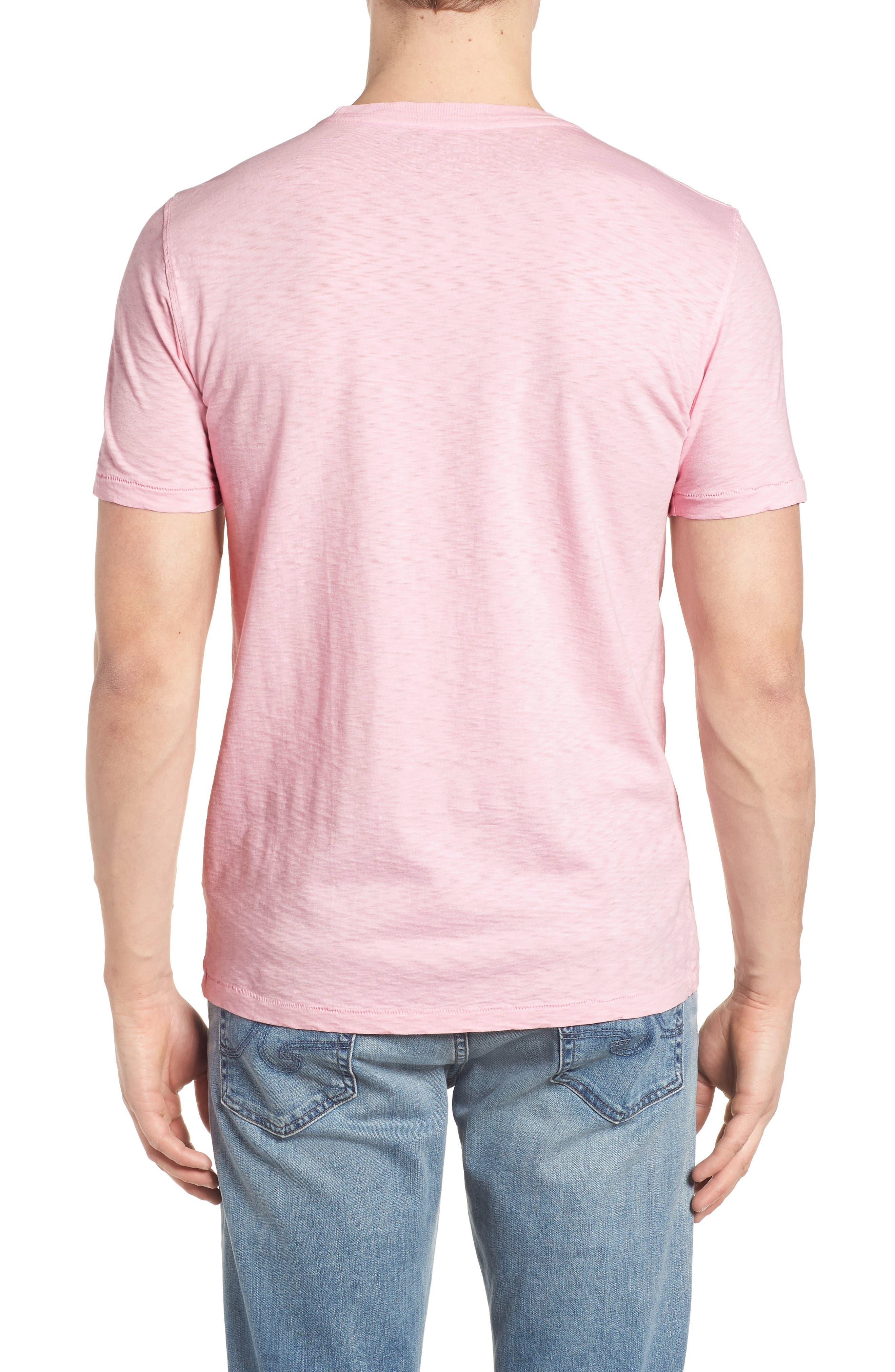 Slub Knit T-Shirt,                             Alternate thumbnail 6, color,                             Pink