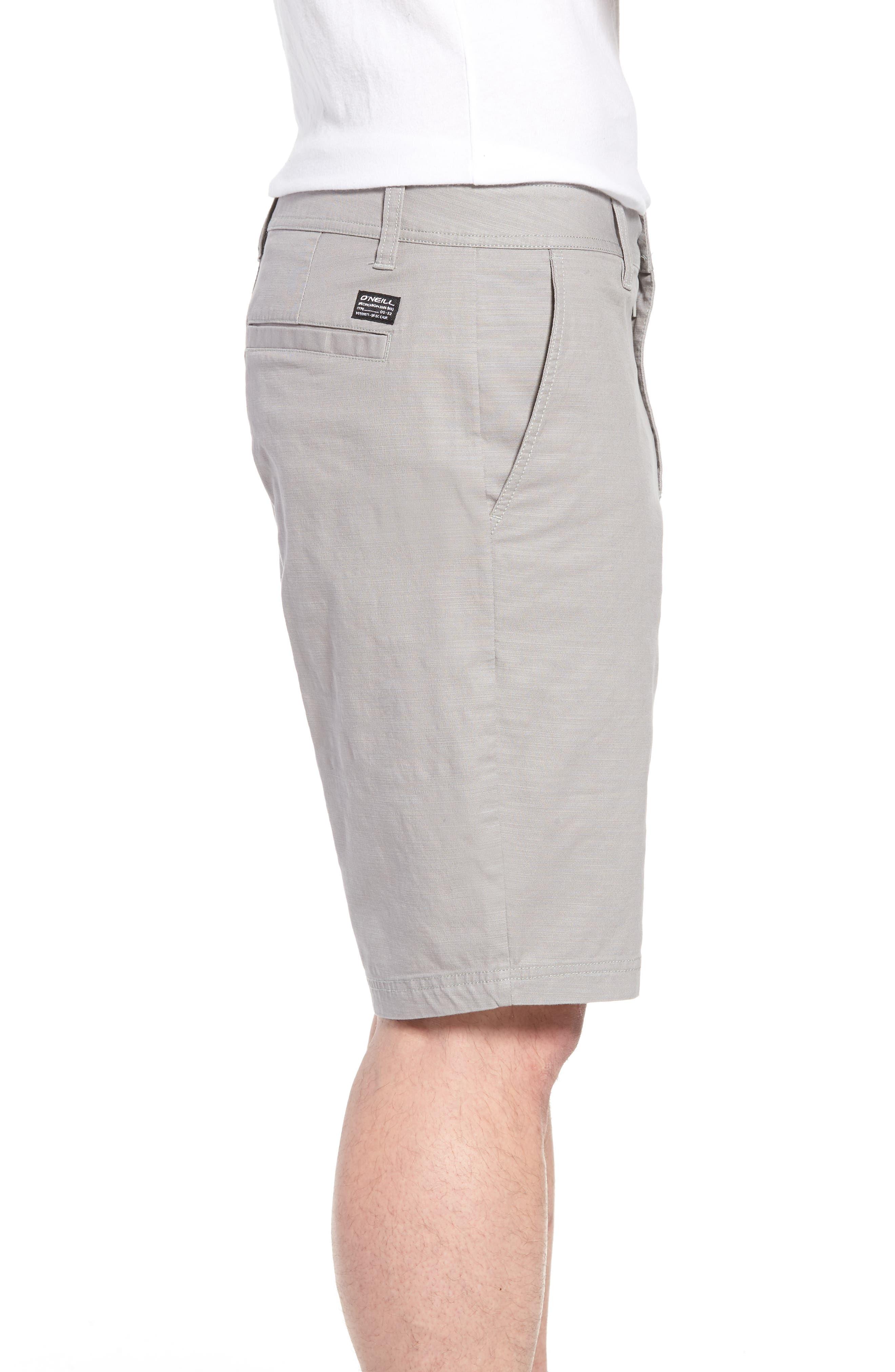 Jay Stretch Chino Shorts,                             Alternate thumbnail 3, color,                             Light Grey