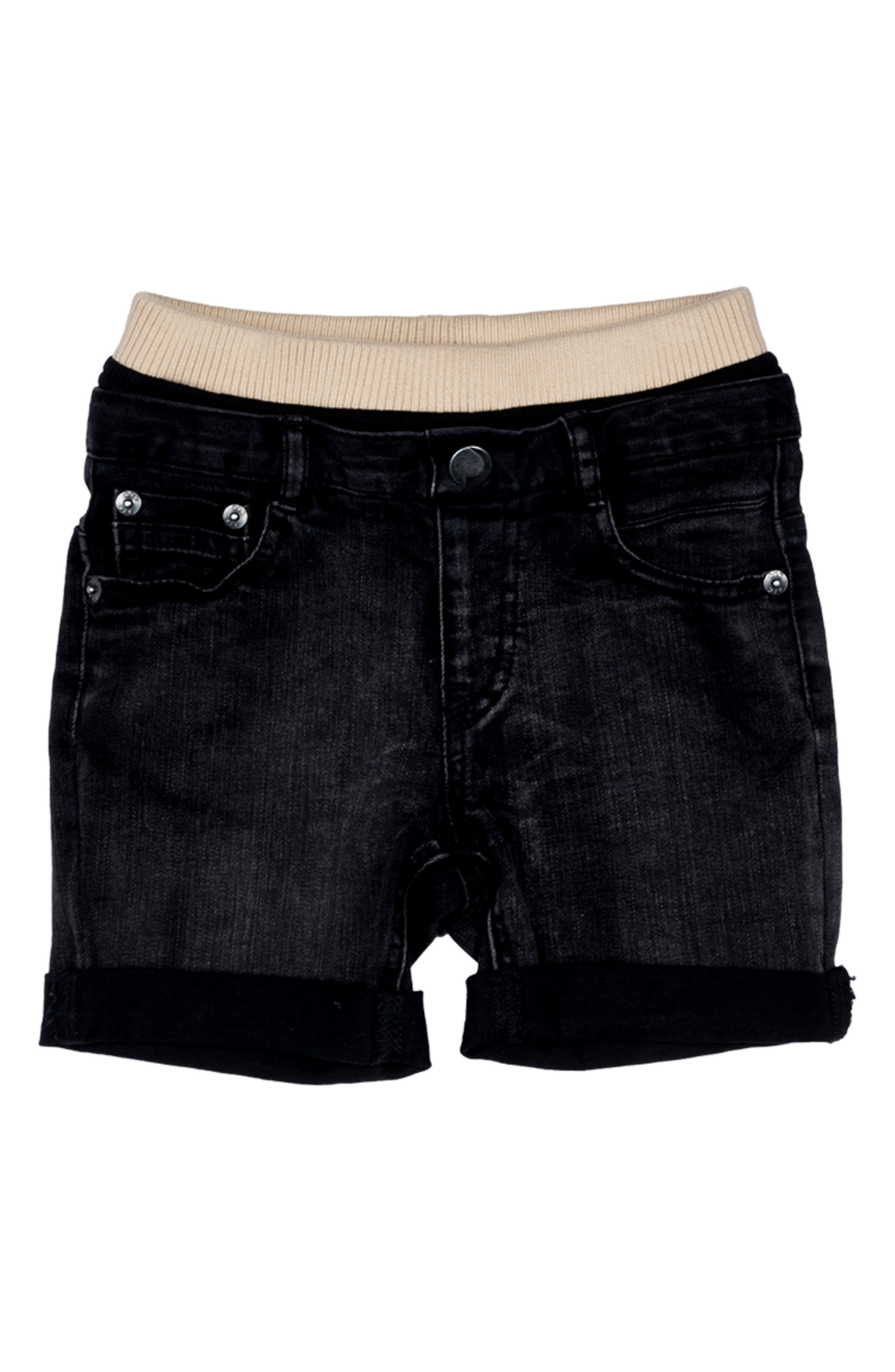 The Anthem Denim Shorts,                         Main,                         color, Black