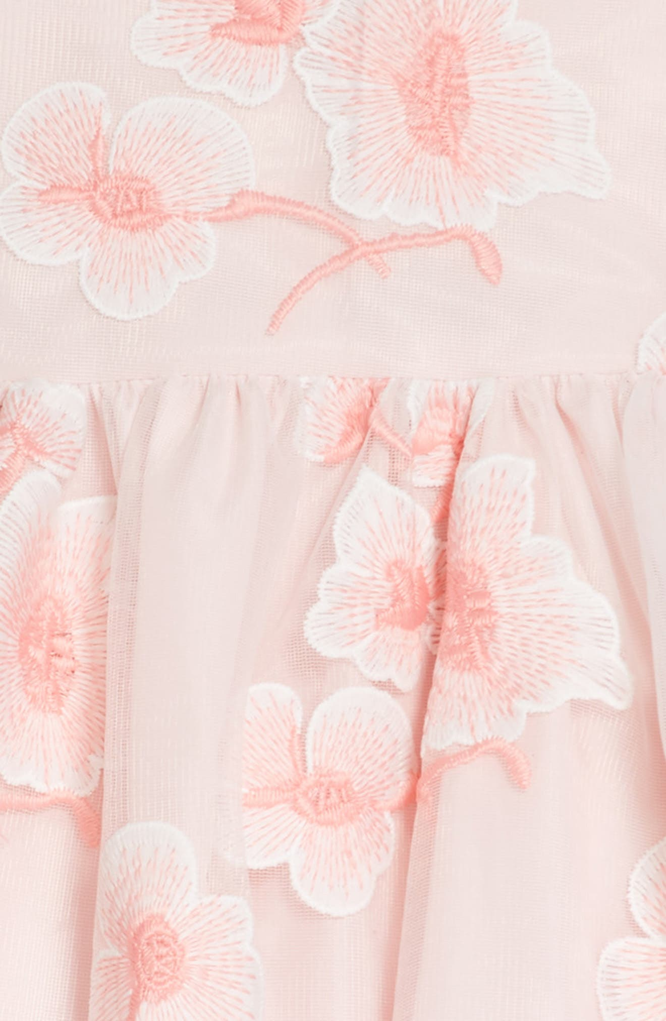 Floral Embroidered Dress,                             Alternate thumbnail 3, color,                             Pink