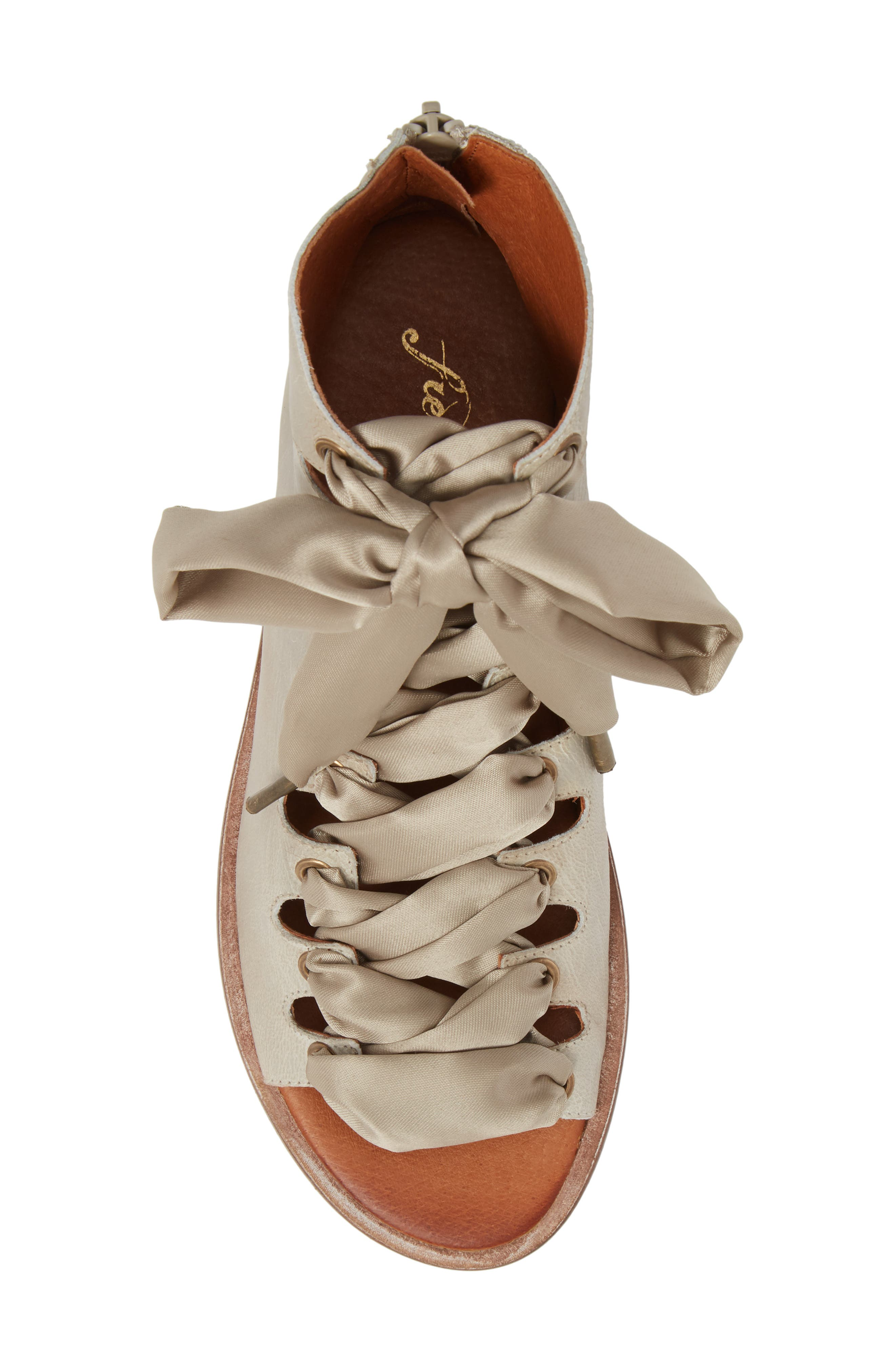 Alternate Image 5  - Free People Palms Lace-Up Bootie Sandal (Women)