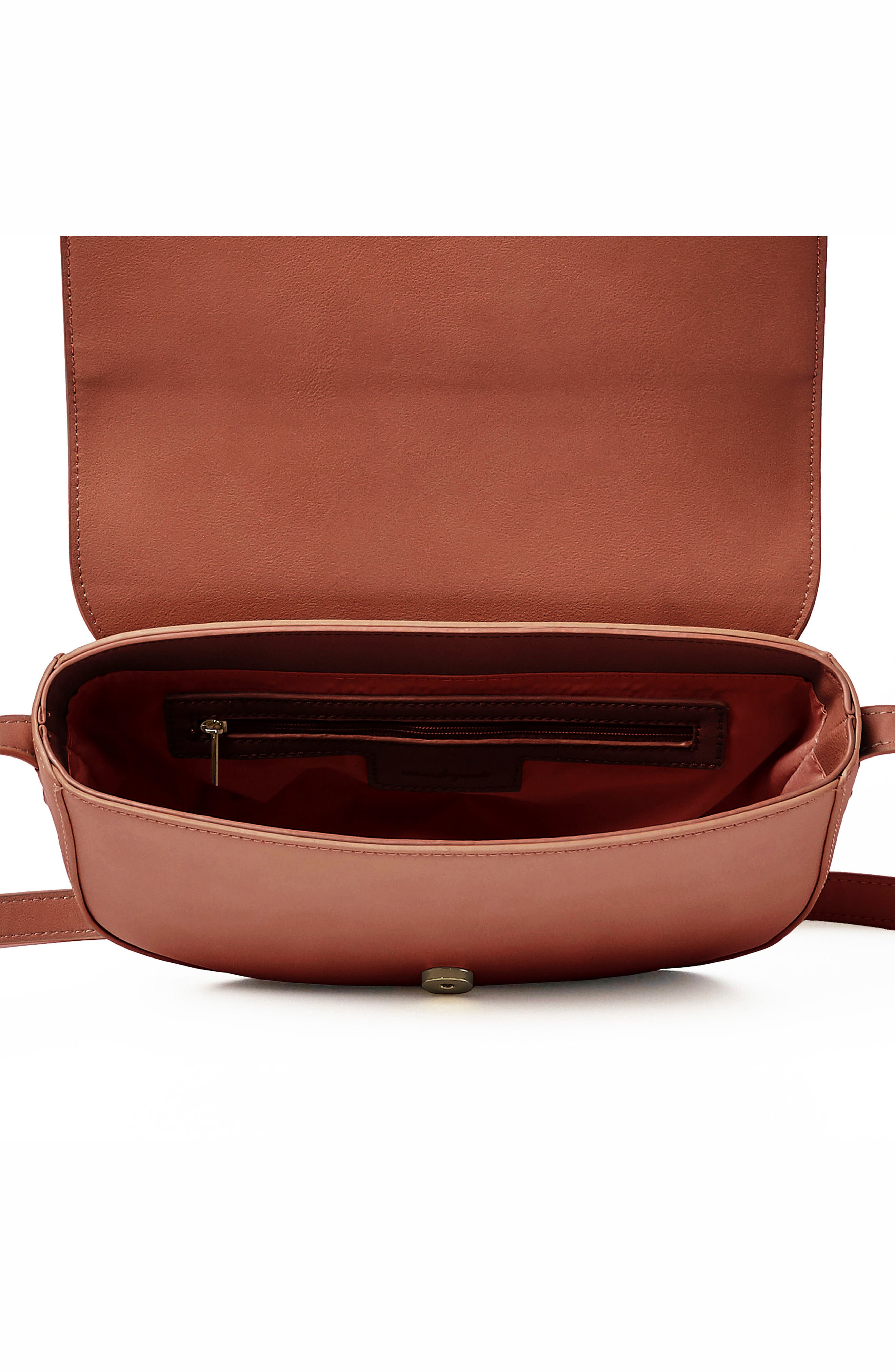 Lolita Vegan Leather Crossbody Bag,                             Alternate thumbnail 3, color,                             Pink
