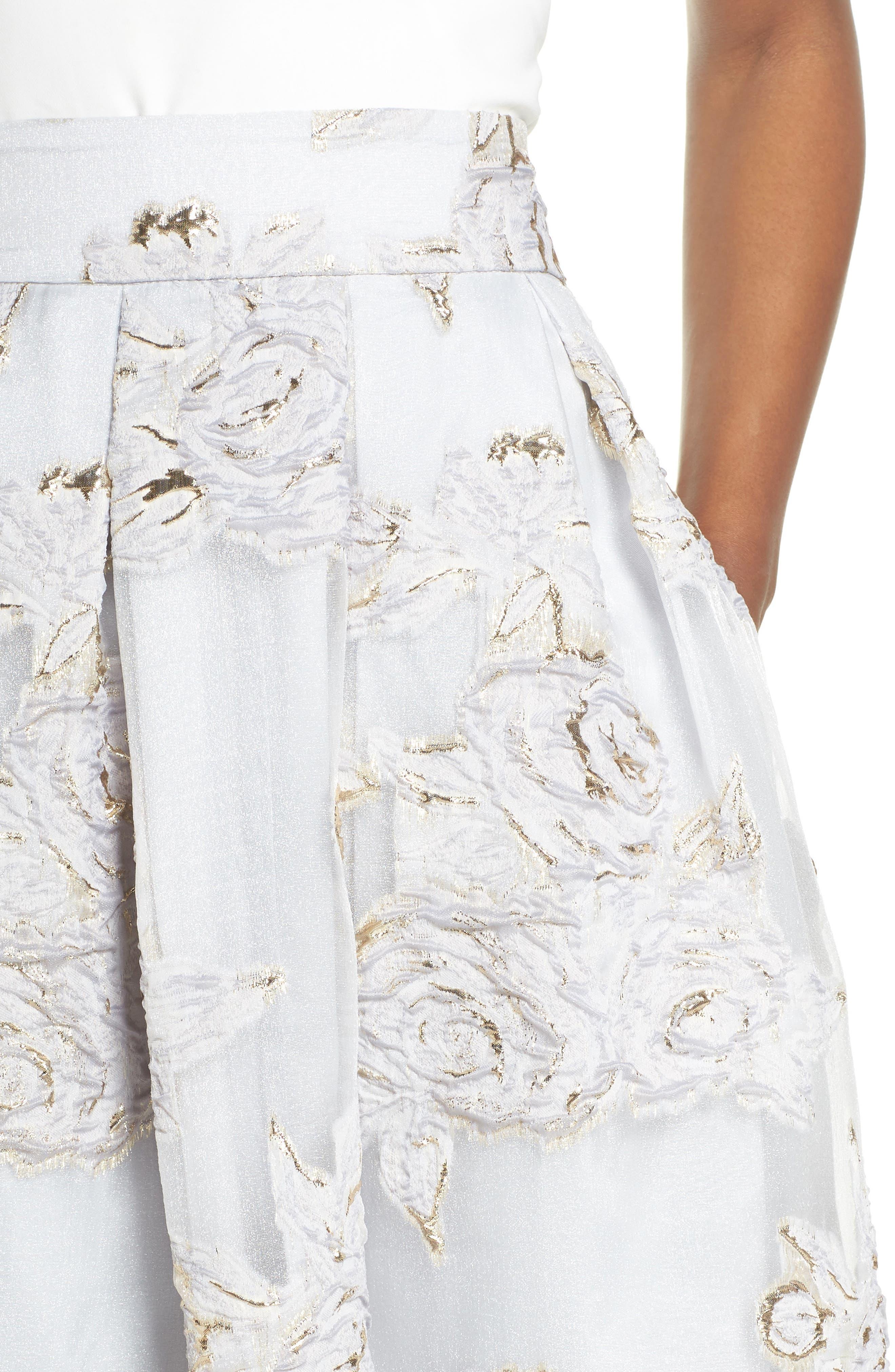 Jacquard Ball Skirt,                             Alternate thumbnail 5, color,                             Silver