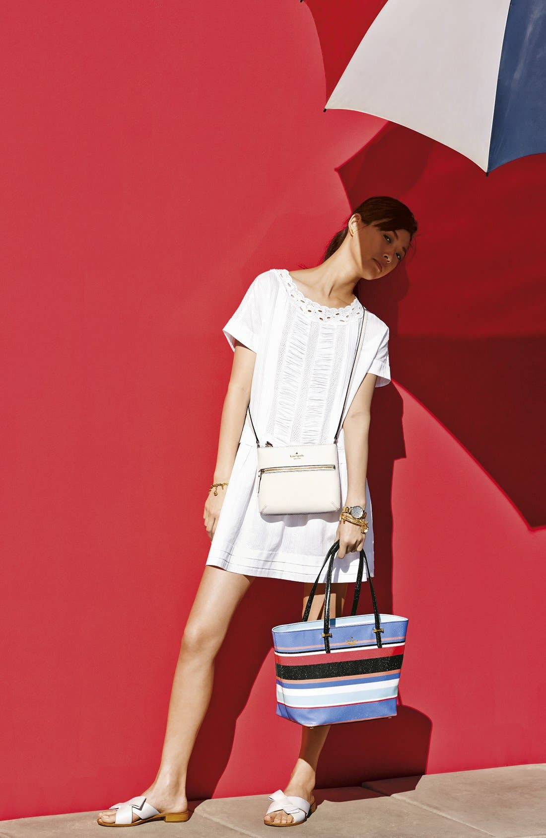 Alternate Image 8  - kate spade new york 'cedar street stripe - small harmony' tote