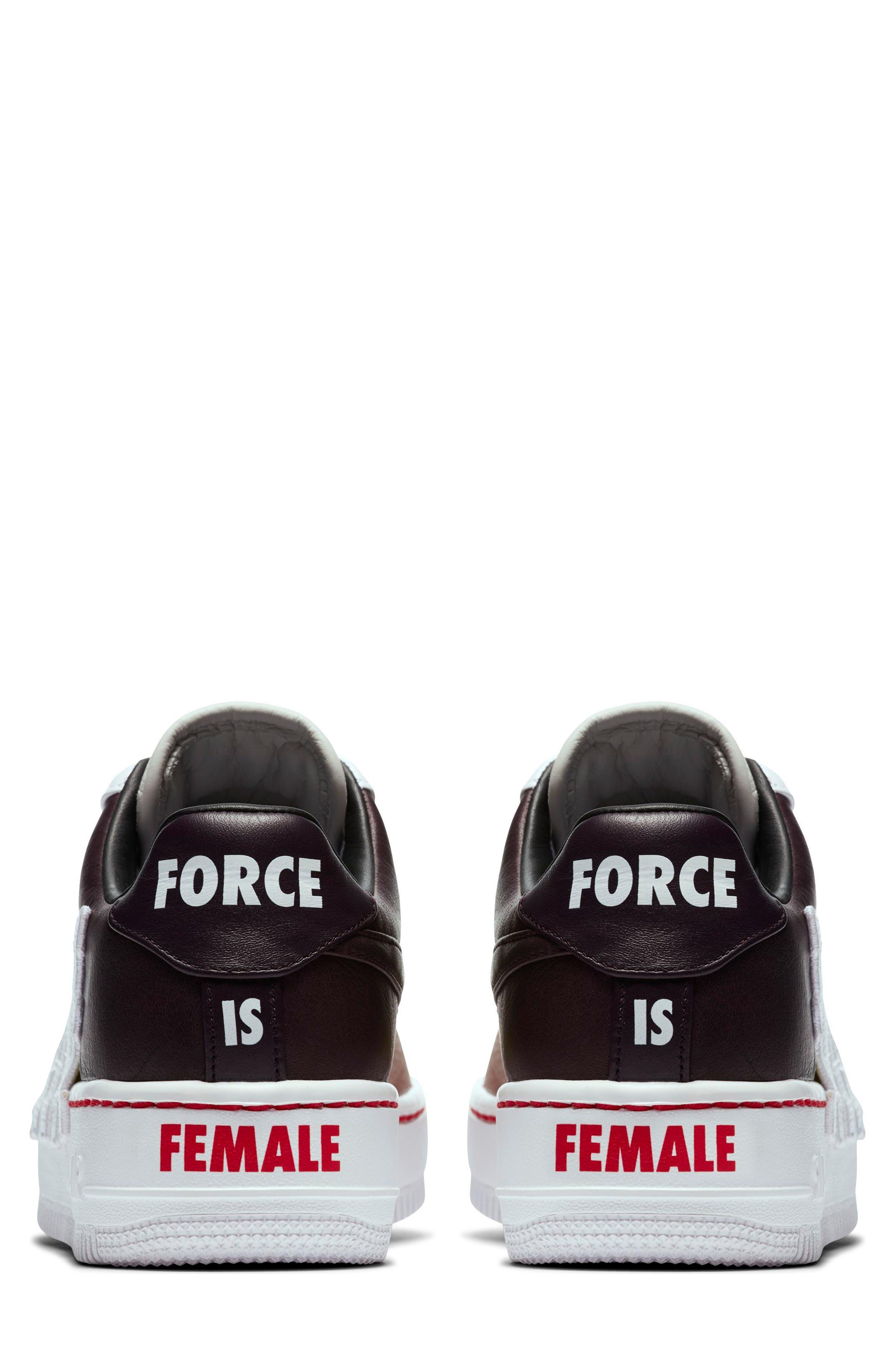 Women's Air Force 1 Upstep LX Shoe,                             Alternate thumbnail 2, color,                             Port Wine/ White/ Cactus