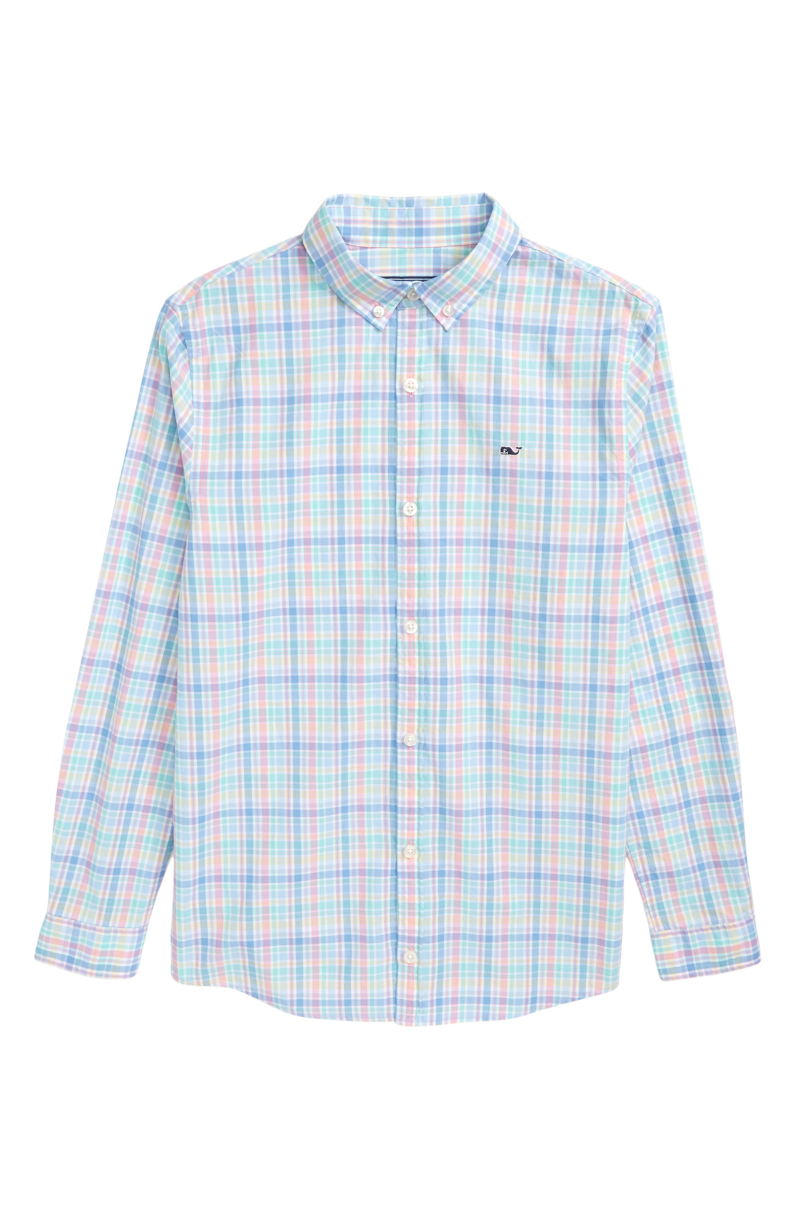 Walkers Cay Plaid Woven Shirt,                         Main,                         color, Jake Blue