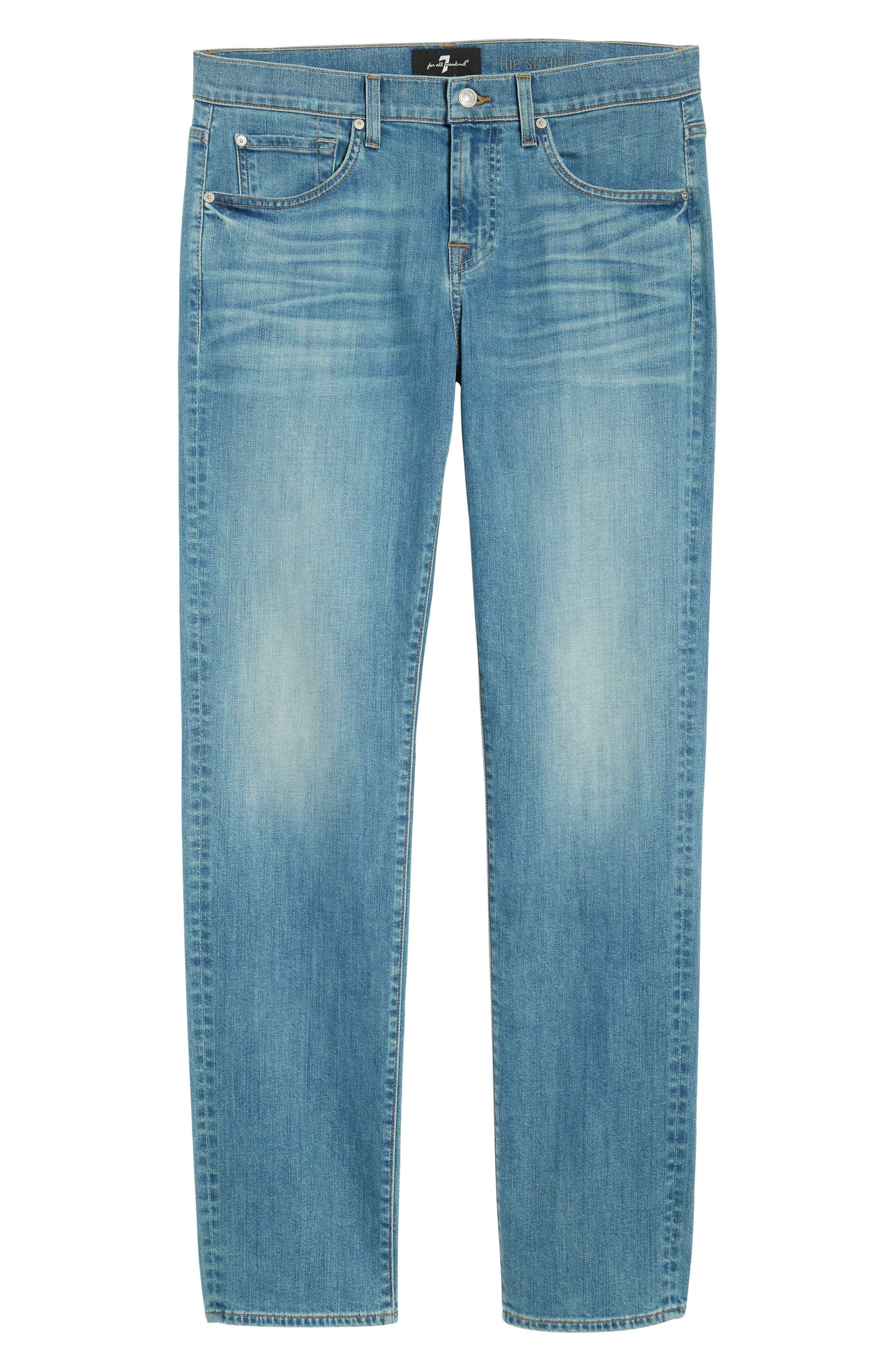 The Straight Slim Straight Leg Jeans,                             Alternate thumbnail 6, color,                             Valhalla