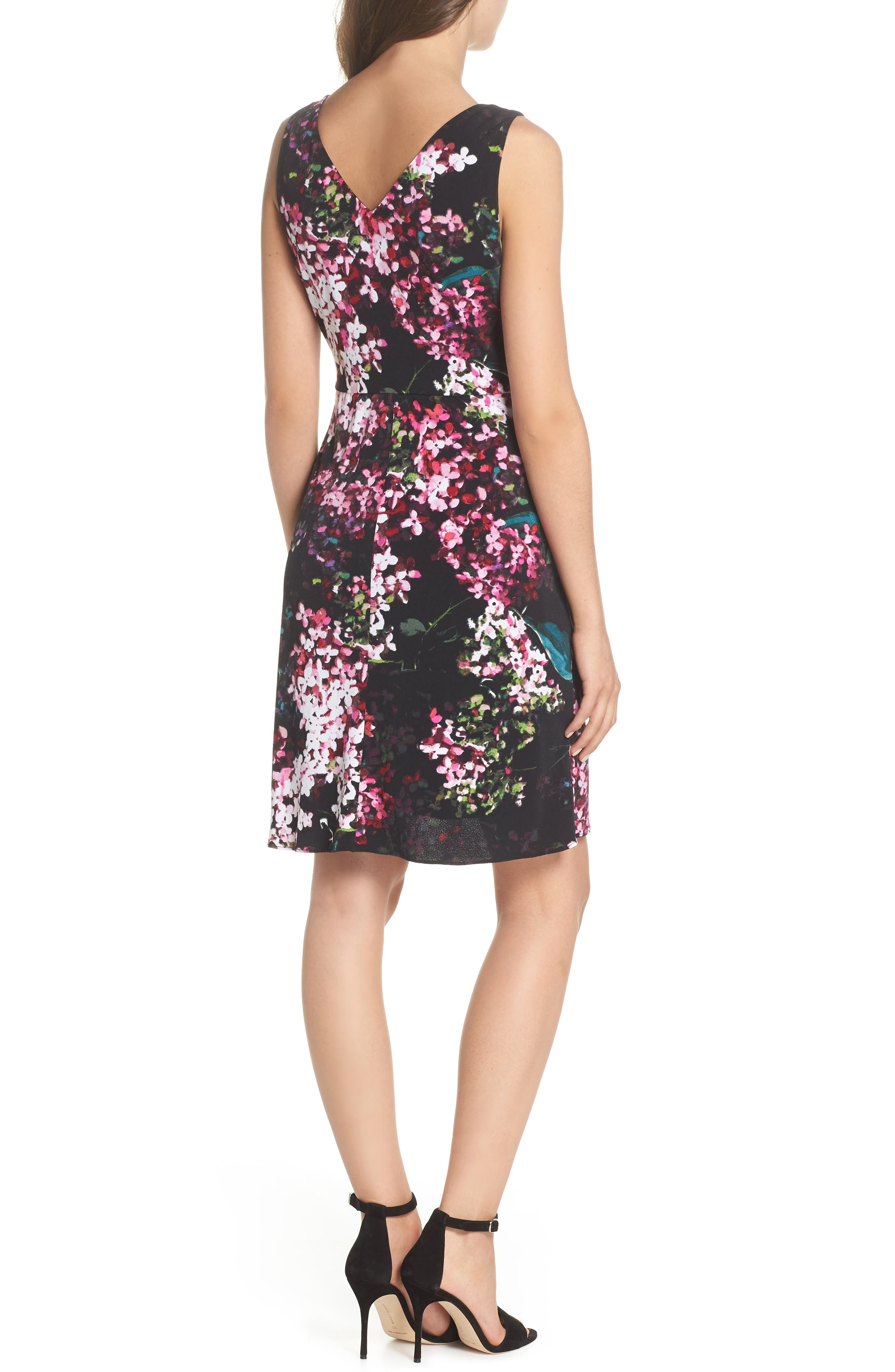 Alternate Image 2  - Adrianna Papell Floral Print Twist Front Dress