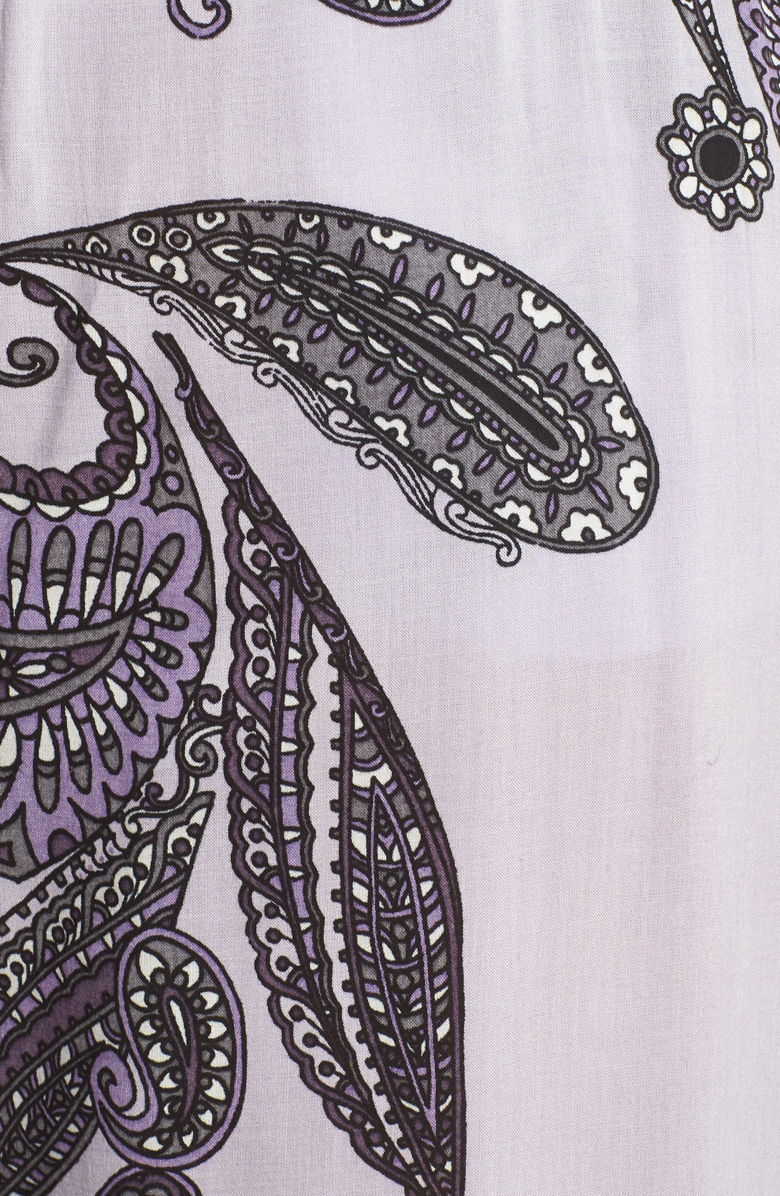 Sweet Dreams Lounge Pants,                             Alternate thumbnail 5, color,                             Purple Thistle Paisley