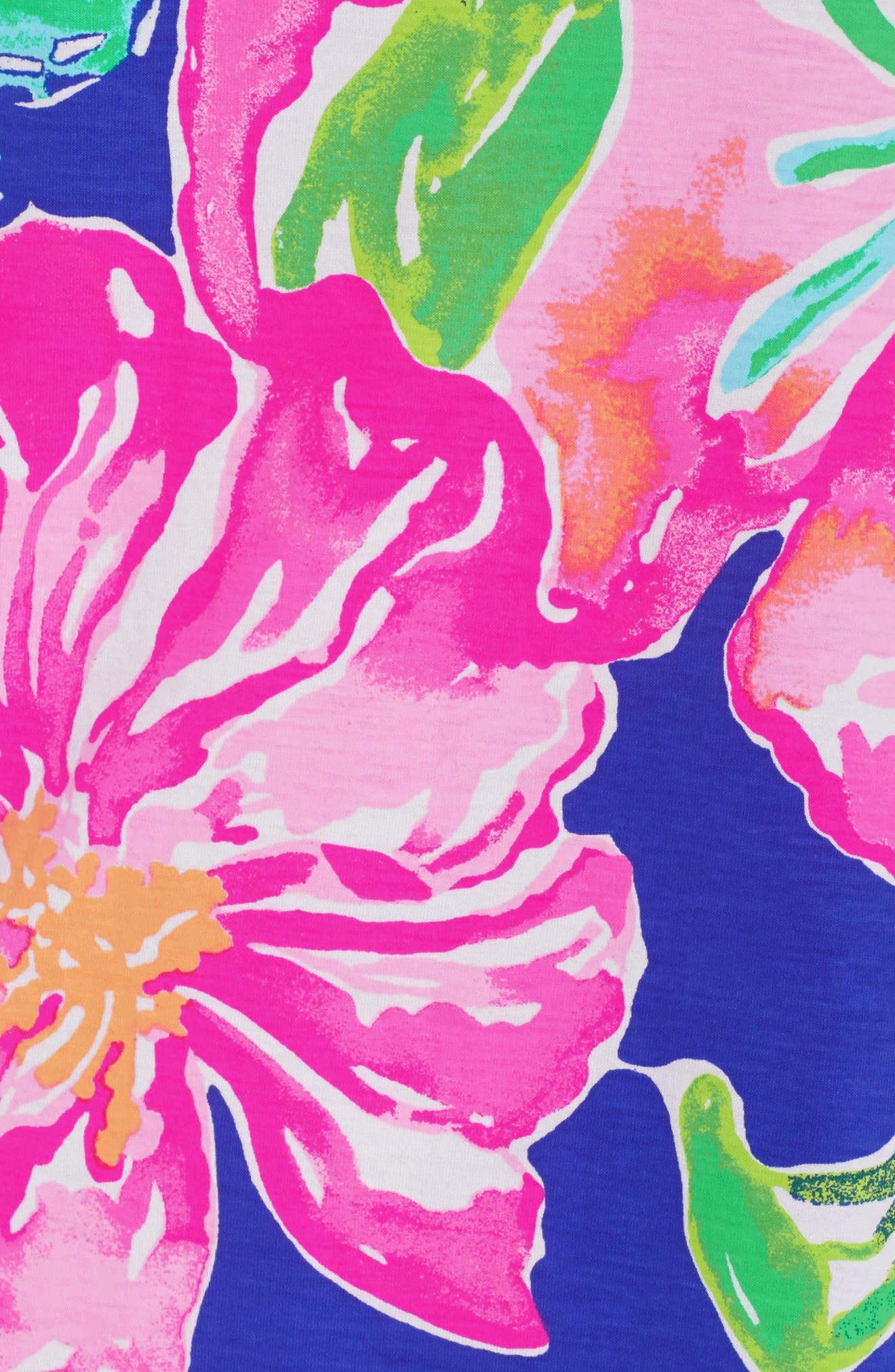 Marlowe Shift Dress,                             Alternate thumbnail 5, color,                             Beckon Blue Jungle Utopia