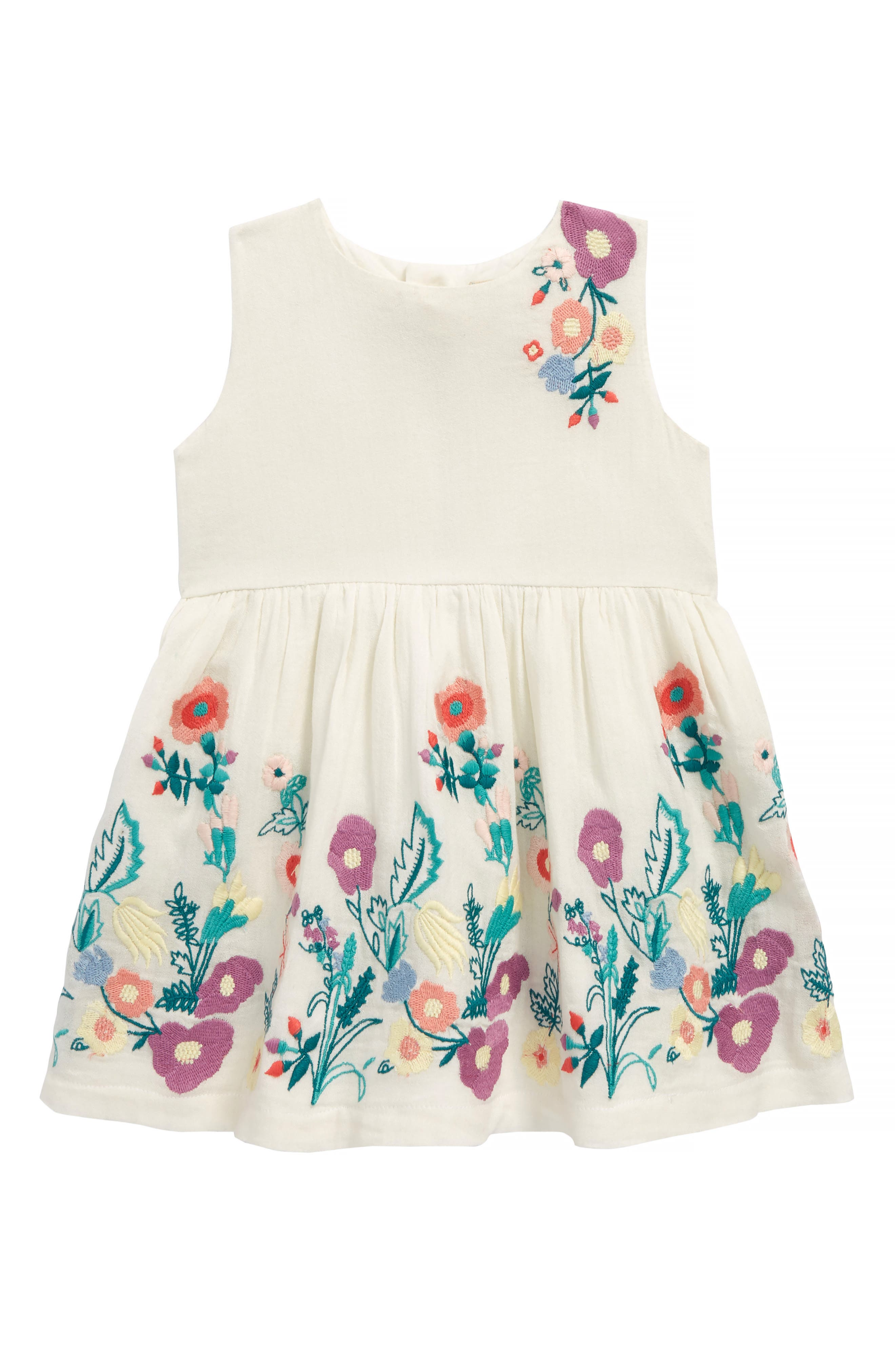 Isabelle Embroidered Dress,                             Main thumbnail 1, color,                             Ivory