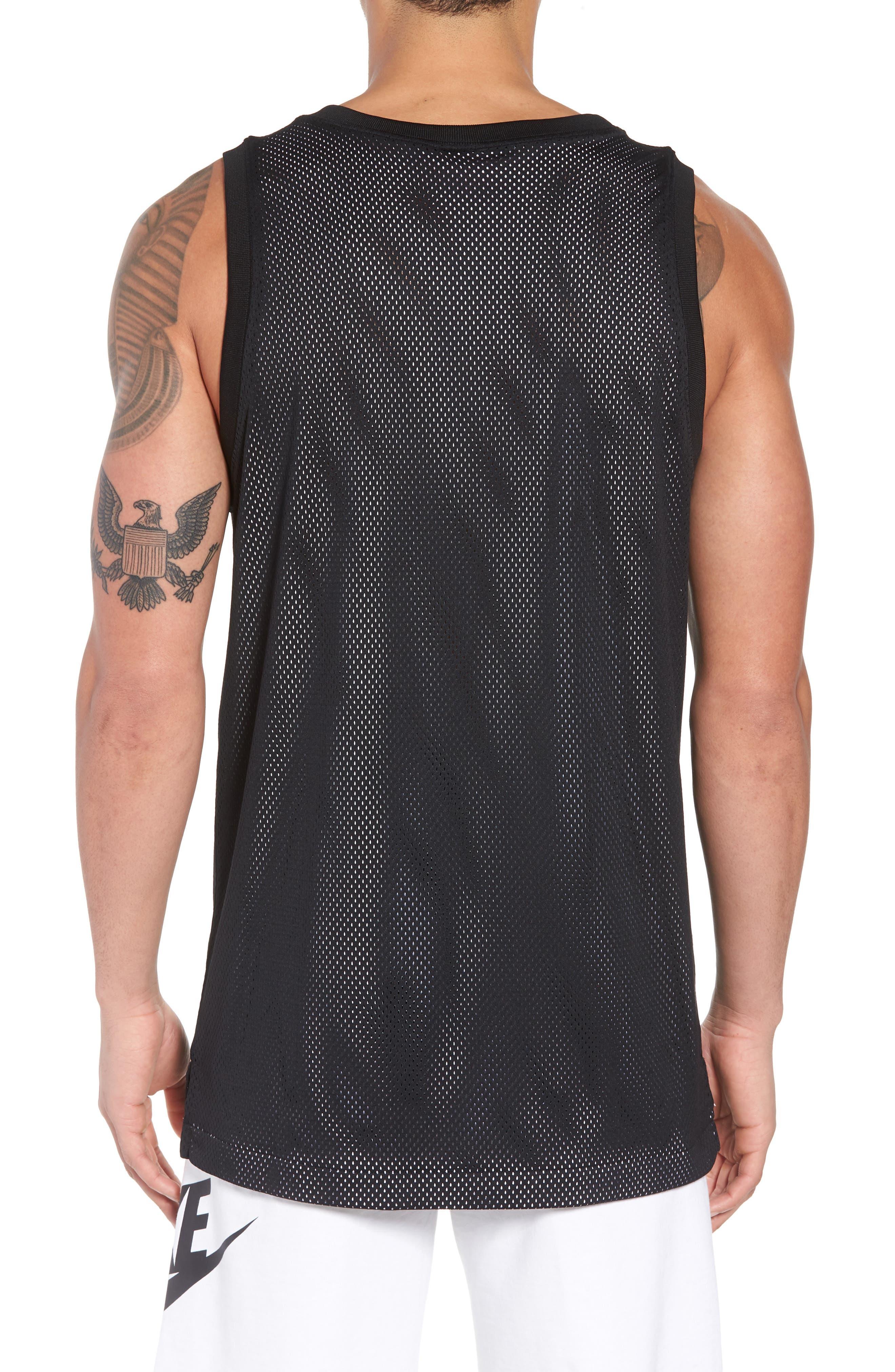 Sportswear Air Knit Tank,                             Alternate thumbnail 2, color,                             Black/ White