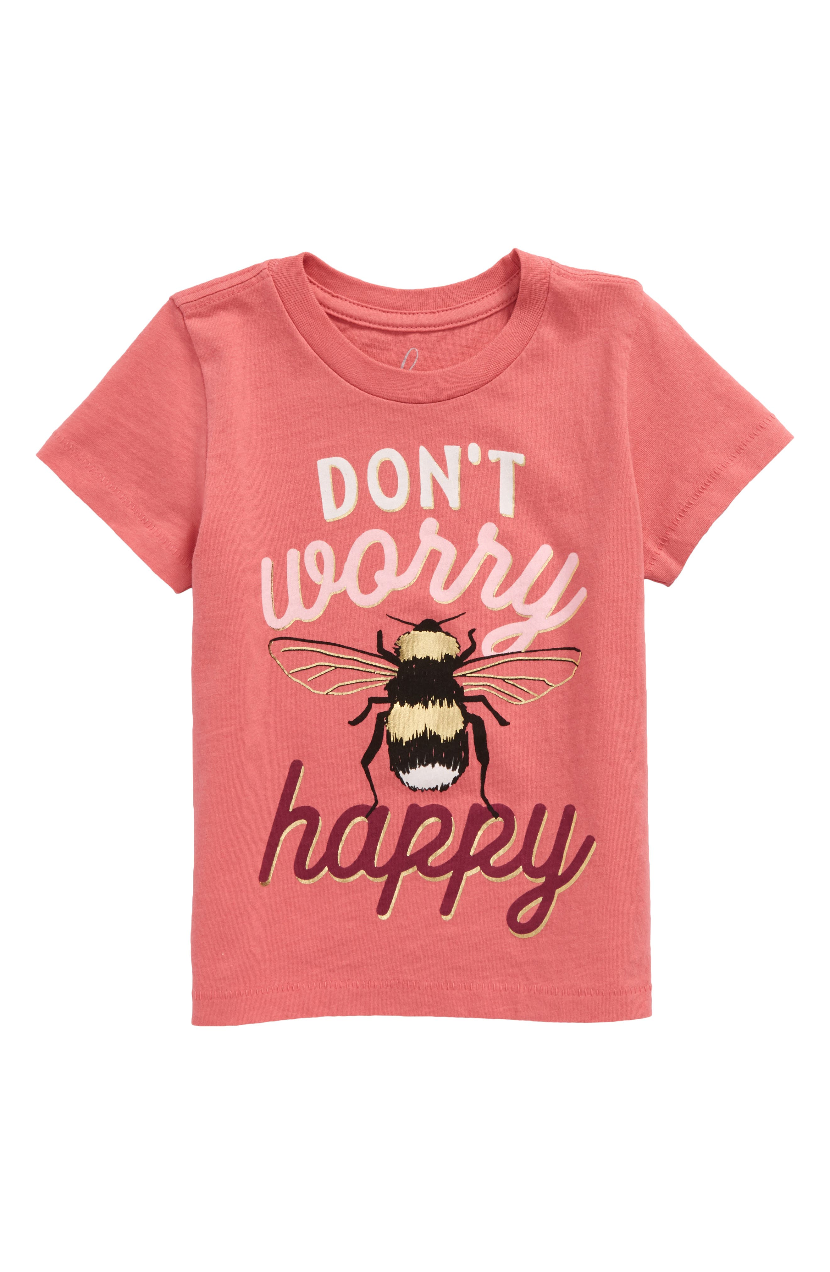 Peek Don't Worry Graphic Tee (Baby Girls)
